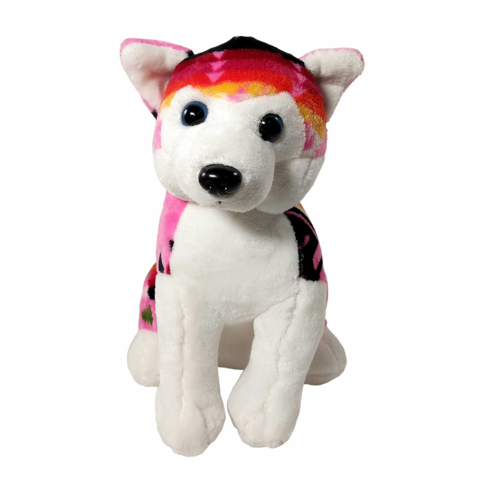 TychoTyke Stuffed Animal Husky Plush Toy Southwest Pink