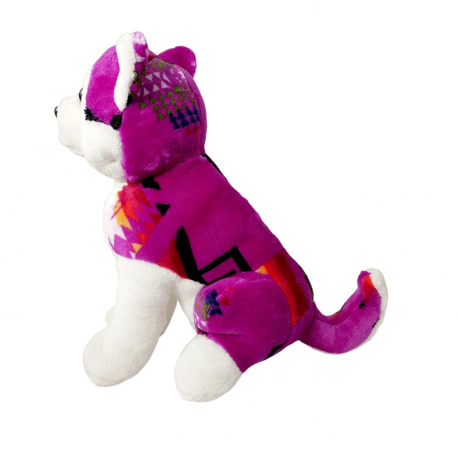 TychoTyke Stuffed Animal Husky Plush Toy Southwest Purple