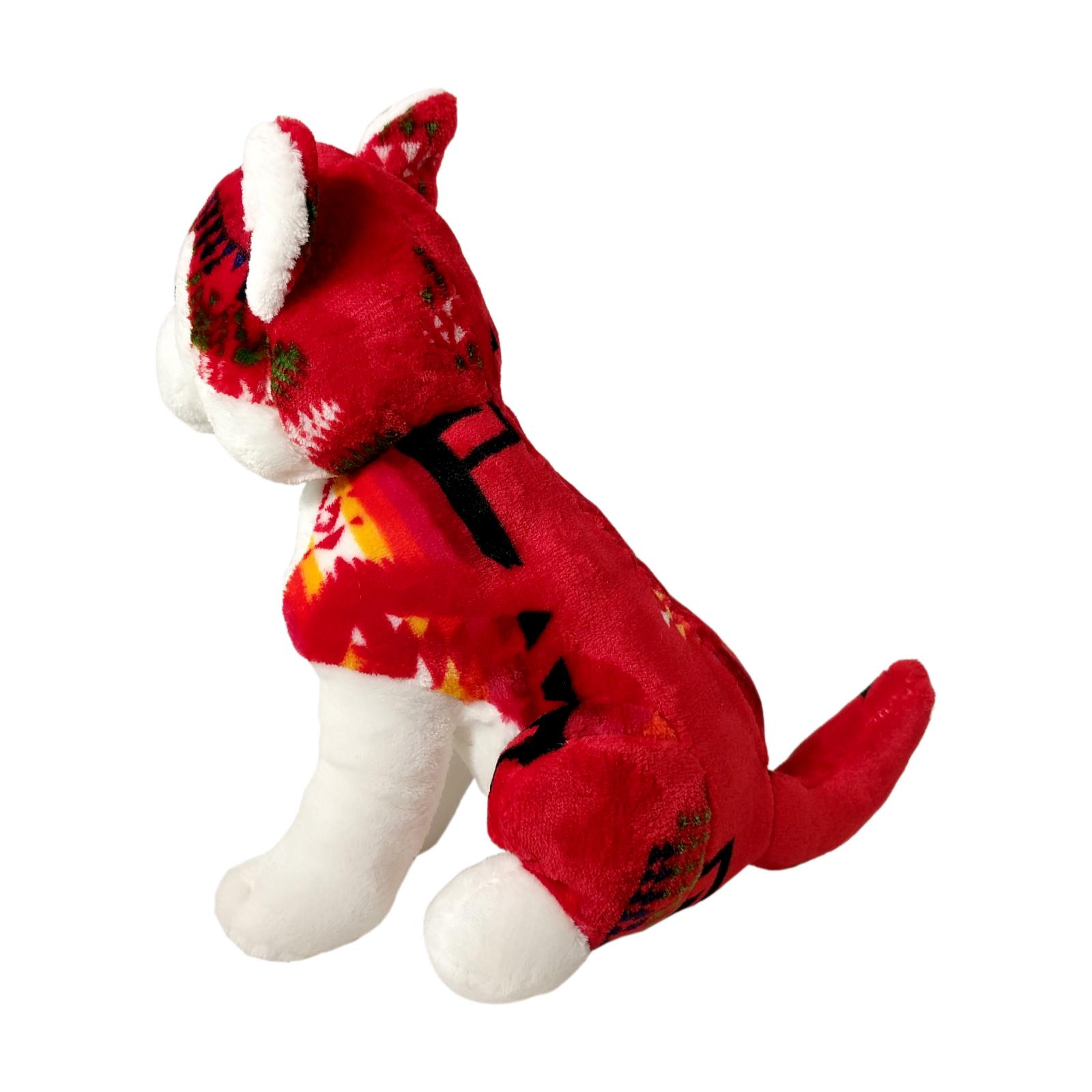 TychoTyke Stuffed Animal Husky Plush Toy Southwest - Red