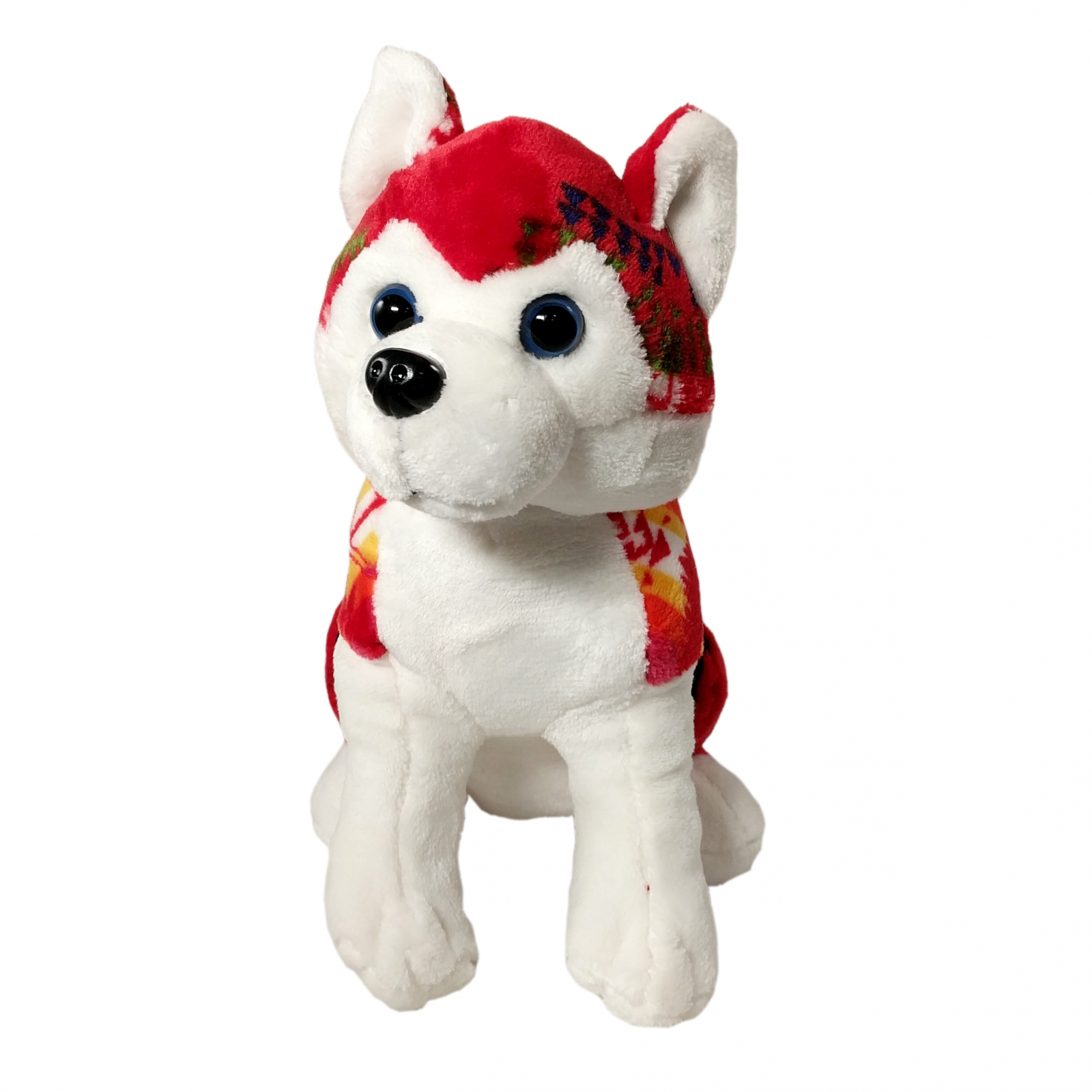 TychoTyke Stuffed Animal Husky Plush Toy Southwest - Red