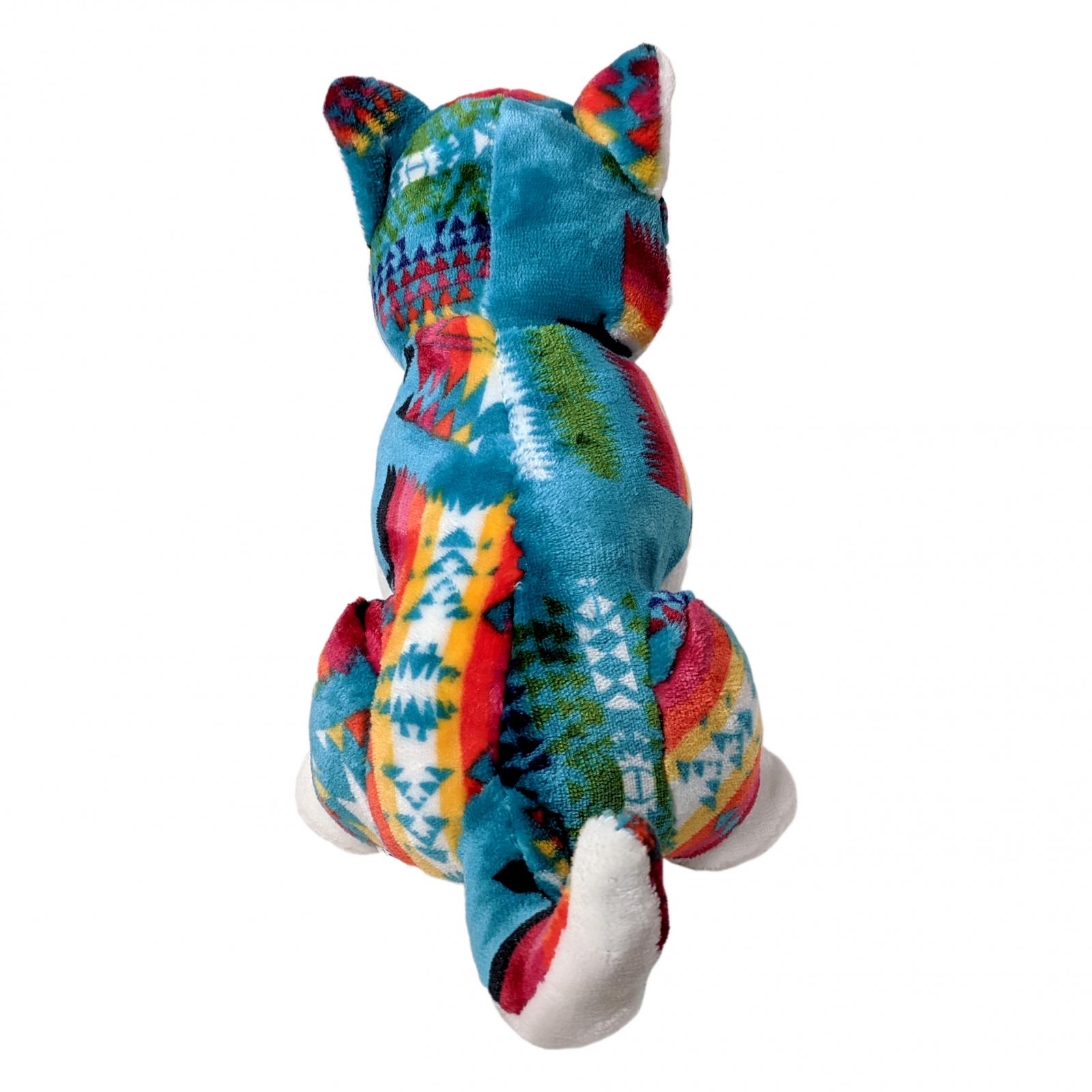 TychoTyke Stuffed Animal Husky Plush Toy Southwest Teal
