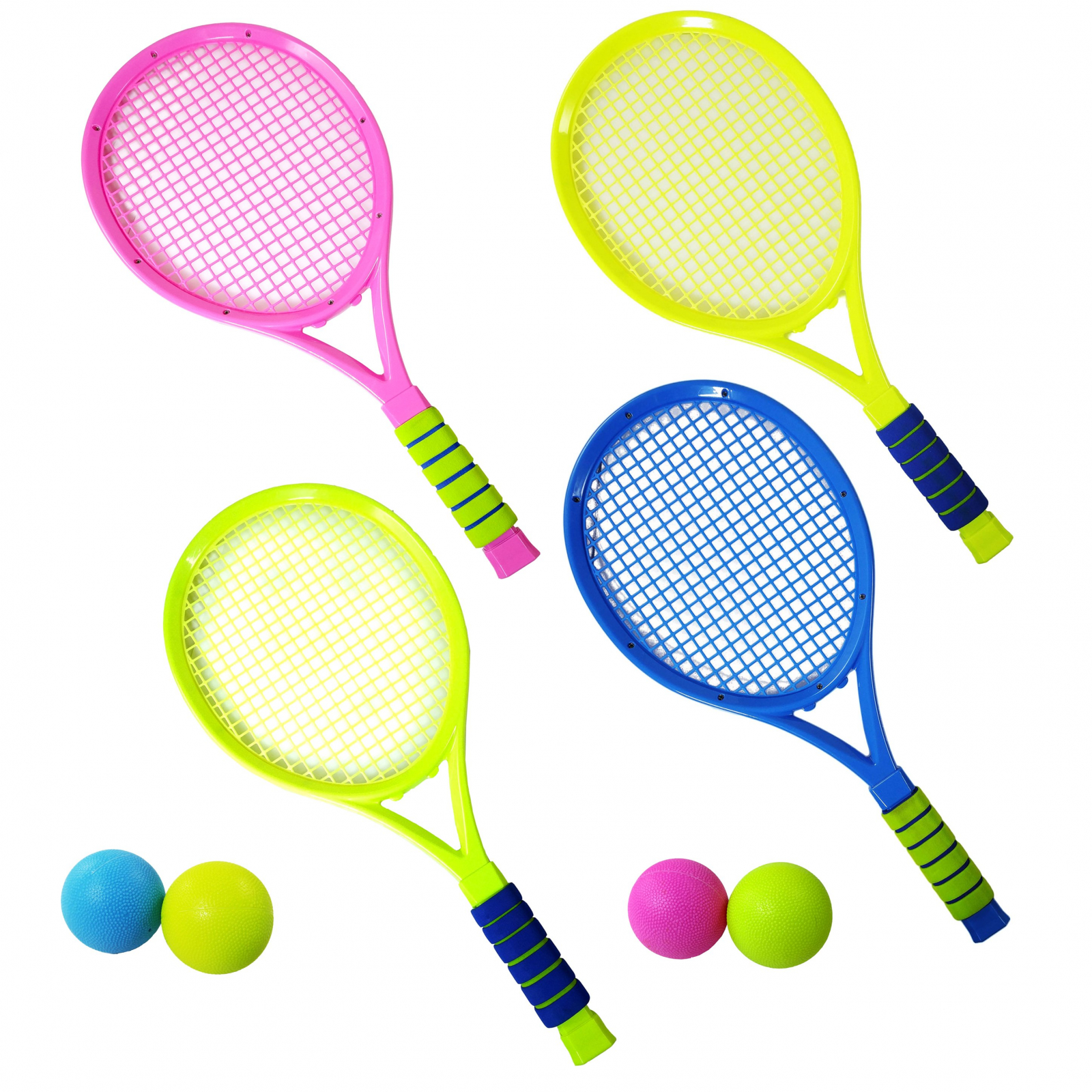 TychoTyke Kids Tennis Rackets Outdoor Exercise 4pc Set