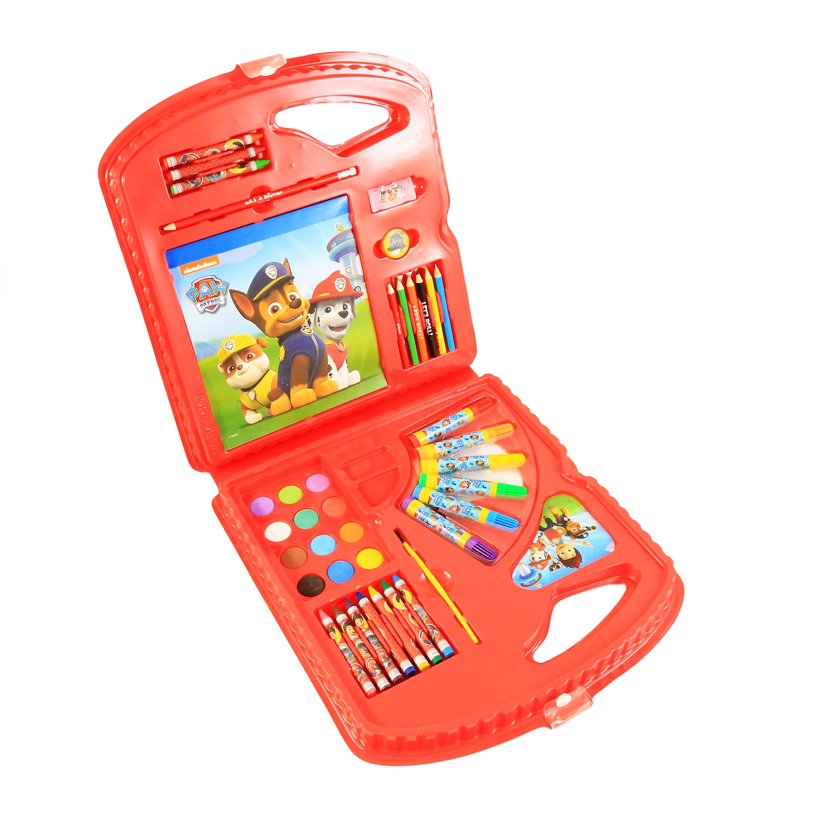 Paw Patrol Deluxe Kids Art Case 40pc Arts and Crafts Supplies Kit