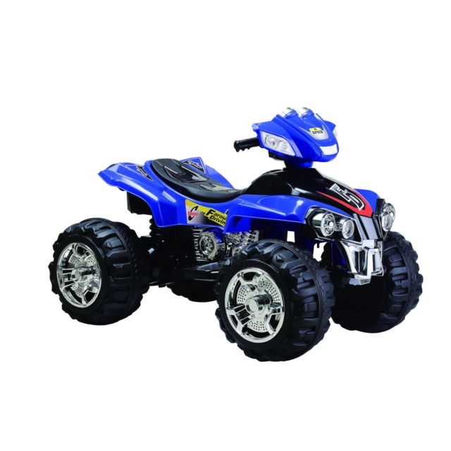 Blue four wheeler ride on
