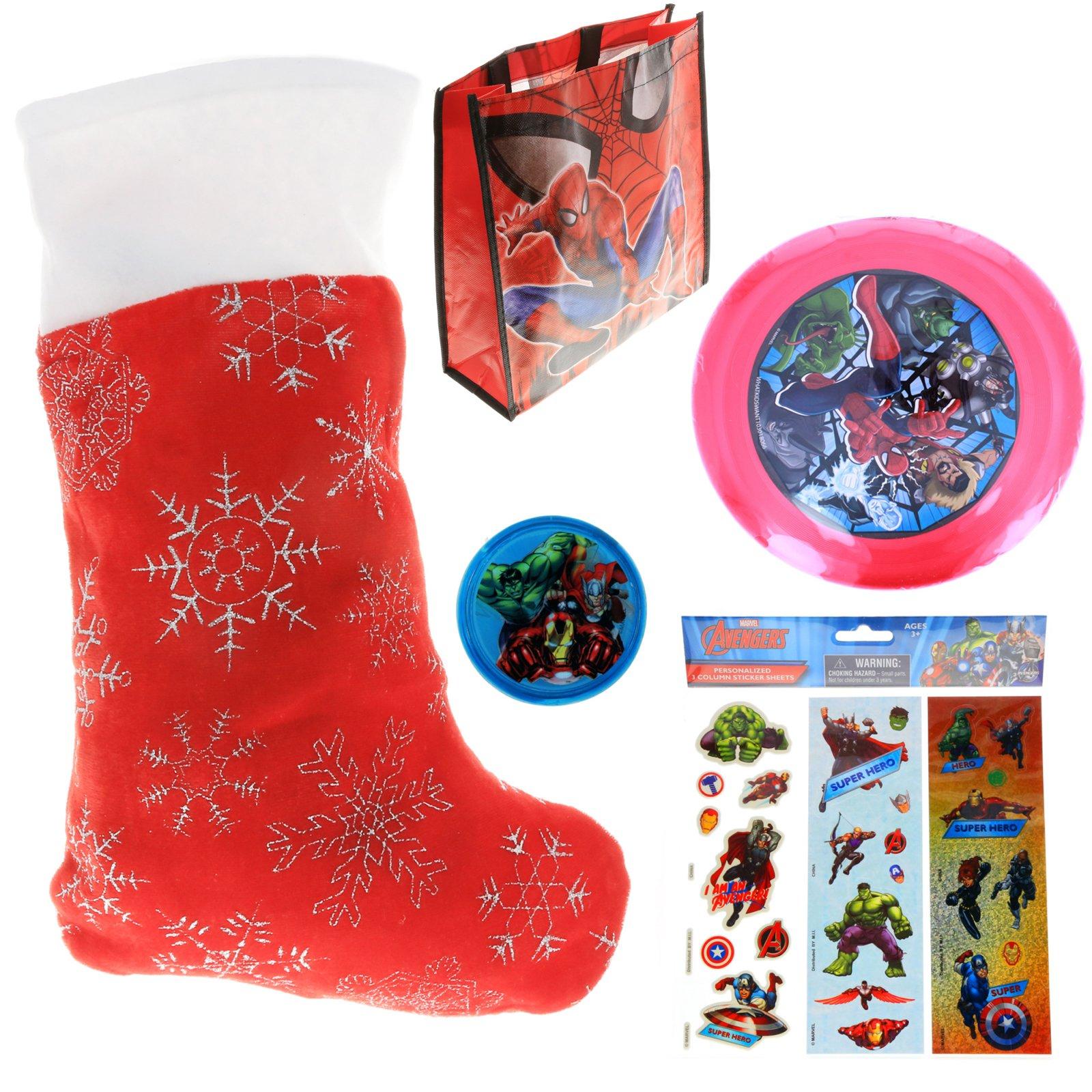 Marvel Avengers Kids Holiday Stocking Stuffer Bundle of Toys