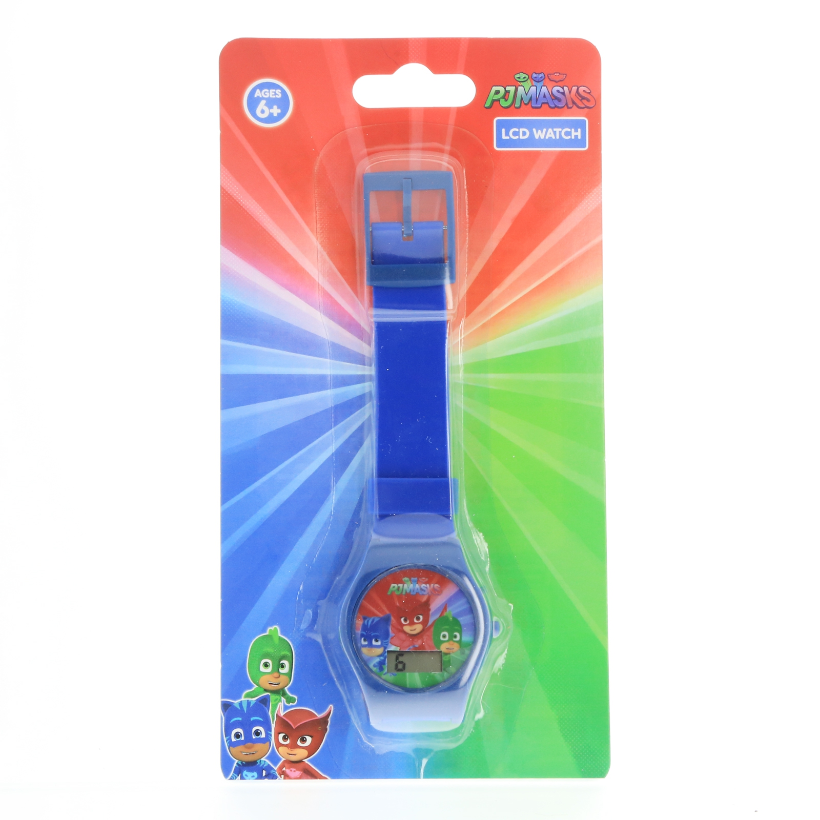 PJ Masks Boys LCD Wrist Watch Digital Style Adjustable Strap - Blue