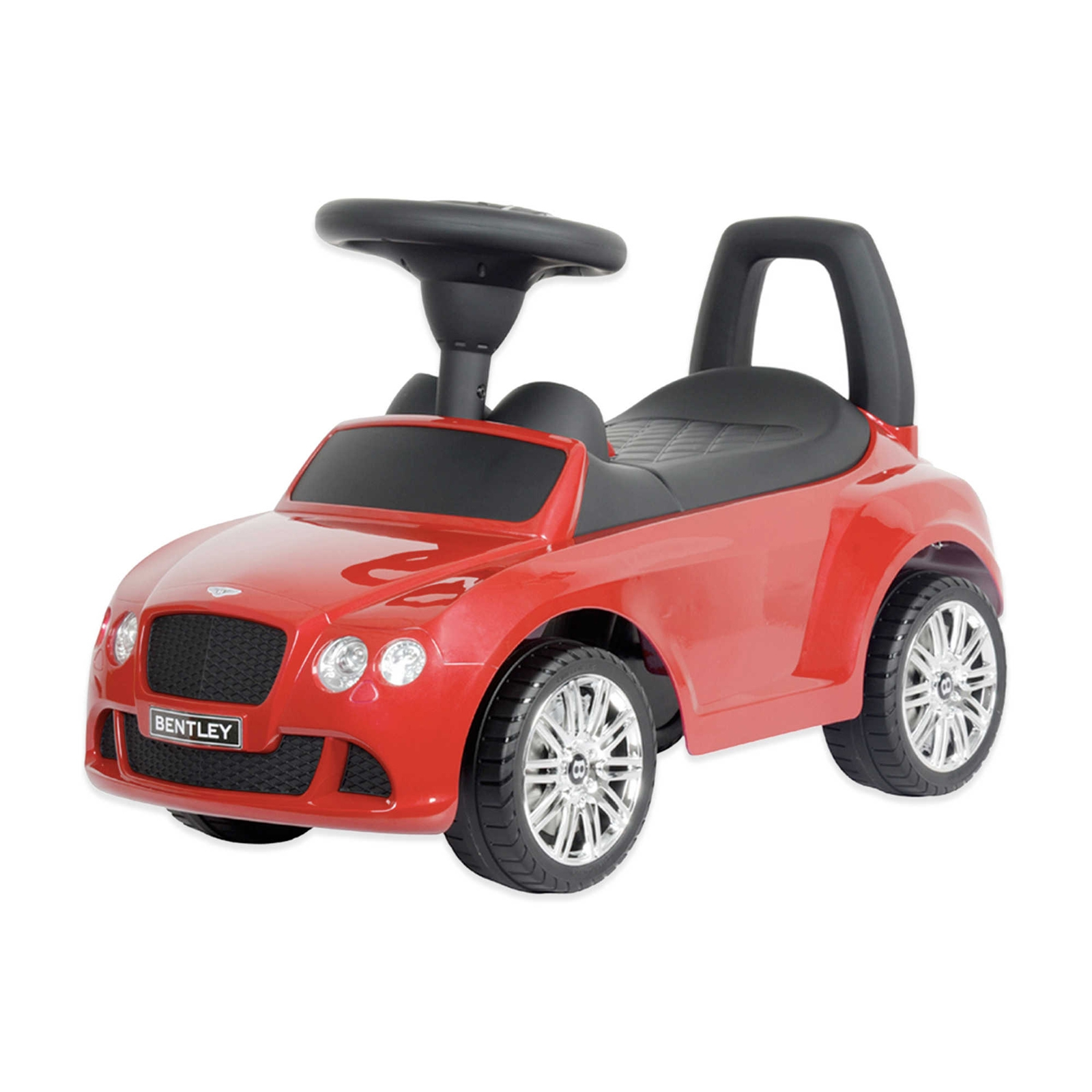 Licensed Bentley Push Kids Ride On Car - Red