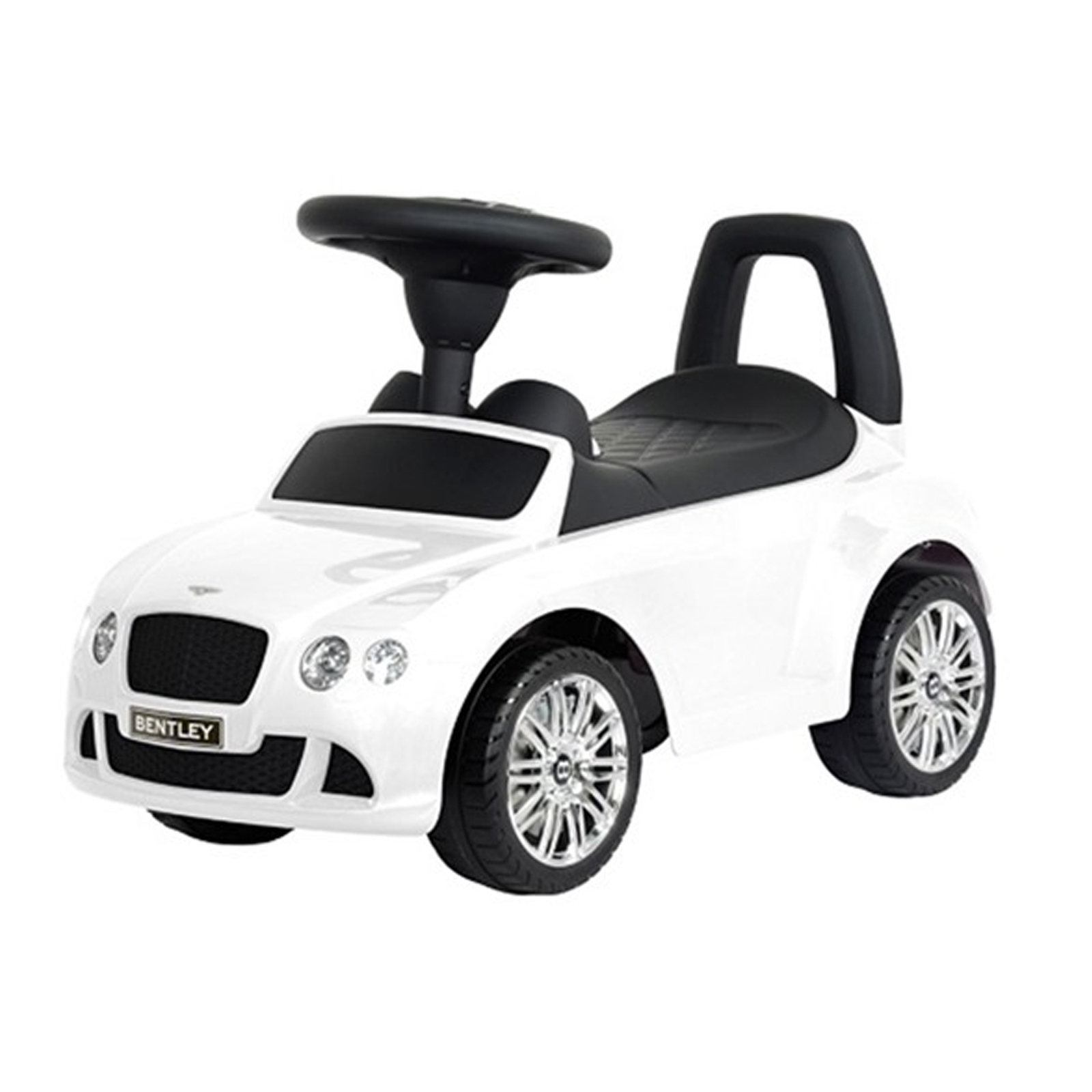 licensed bentley push kids ride on car in white