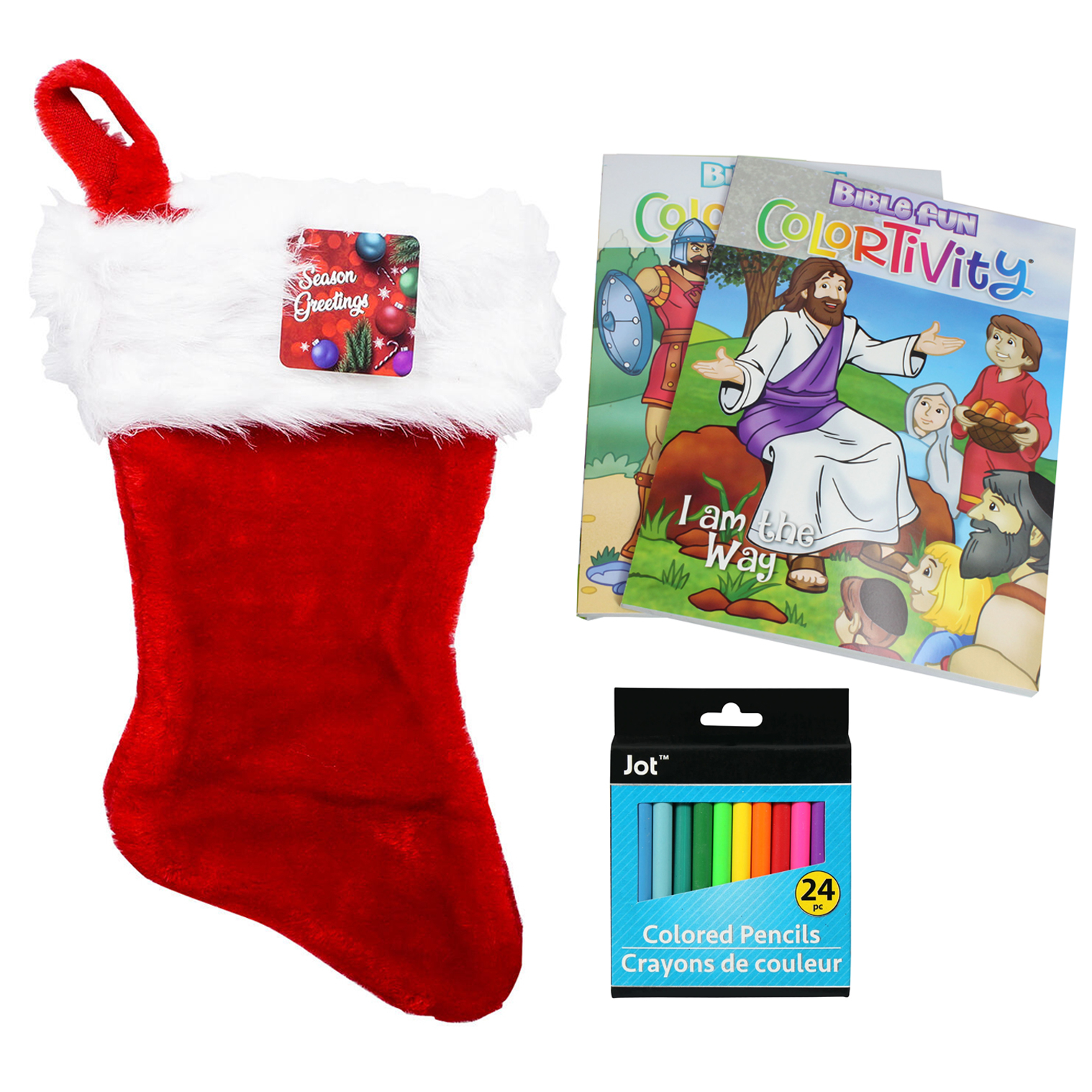Kids Holiday Stocking Stuffer Bundle Coloring Books Pencils