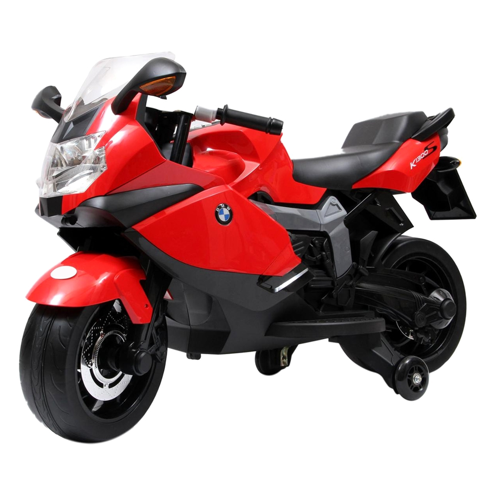 Licensed BMW Motorcycle 12V Kids Battery Powered Ride On Car - Red