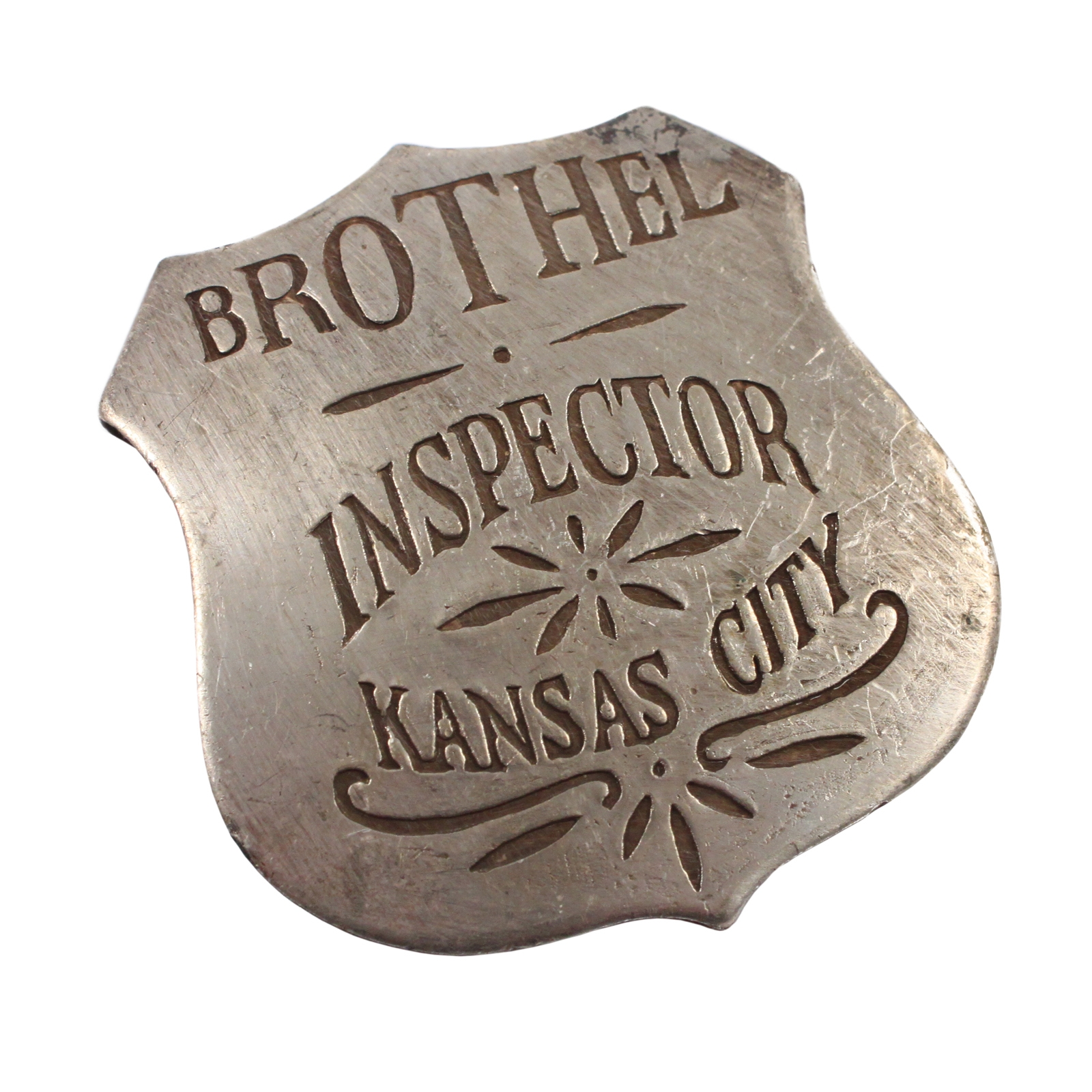 Kansas City Brothel Inspector Old West Badge