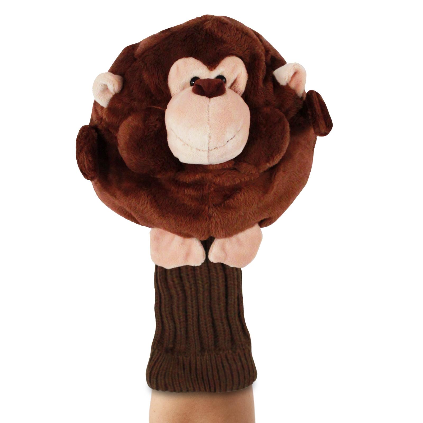 Chubby Chipper Monkey Brown Plush Kids Hand Puppet