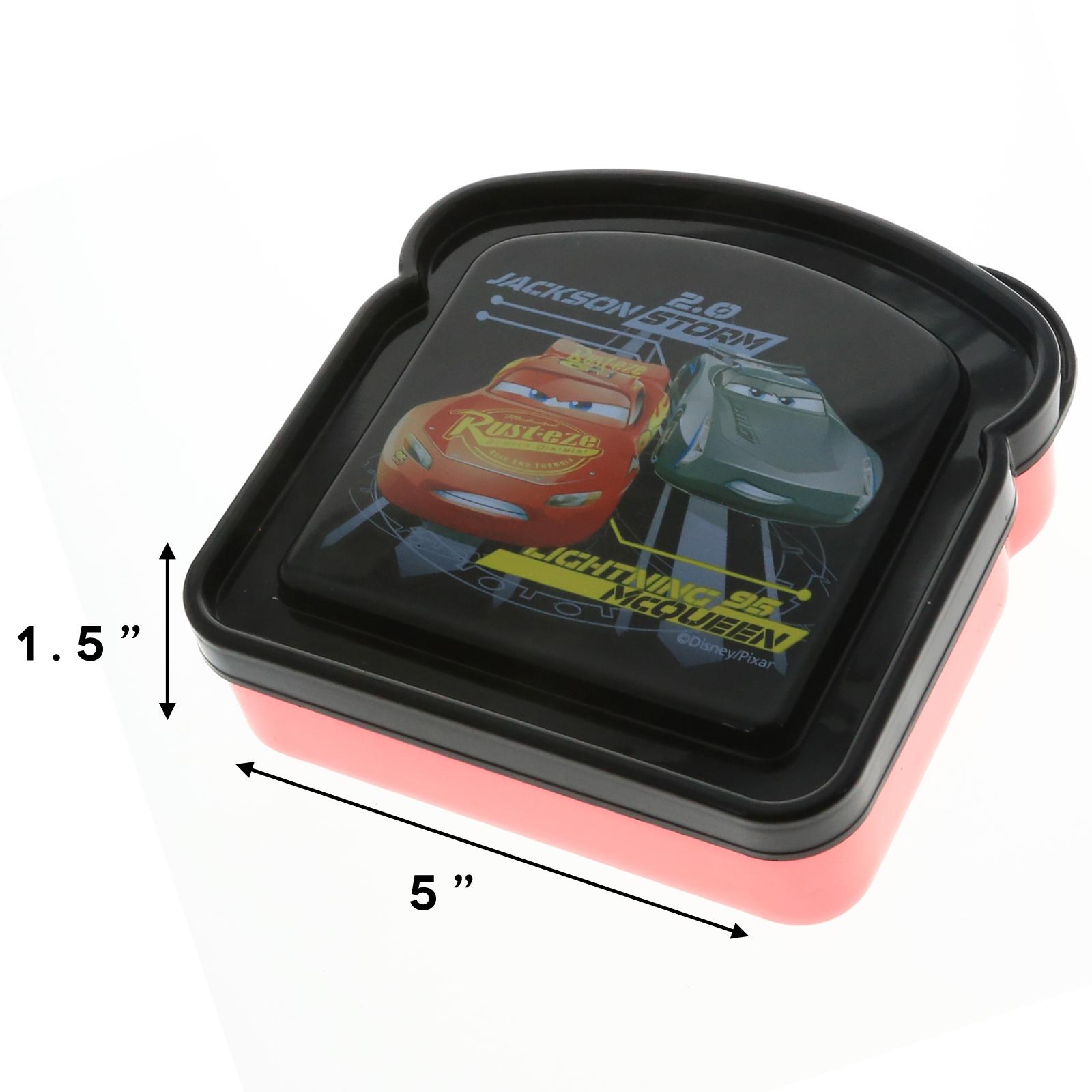 Disney Pixar Cars 3 Boys Sandwich Container Bread Lunch Box for School Travel