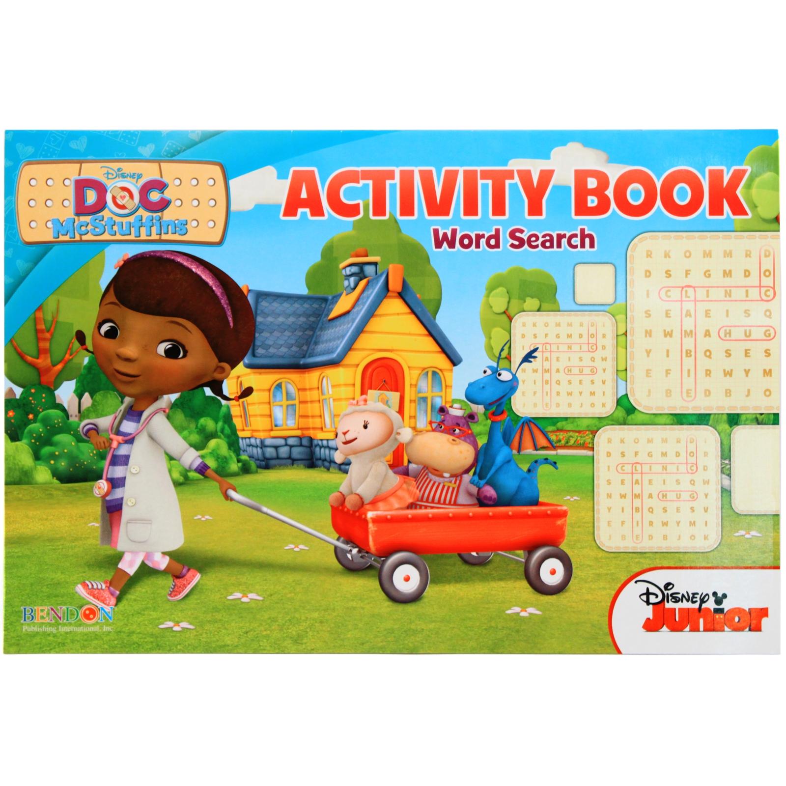 Childrens educational coloring activity book - Doc Mcstuffins Activity Book Cover