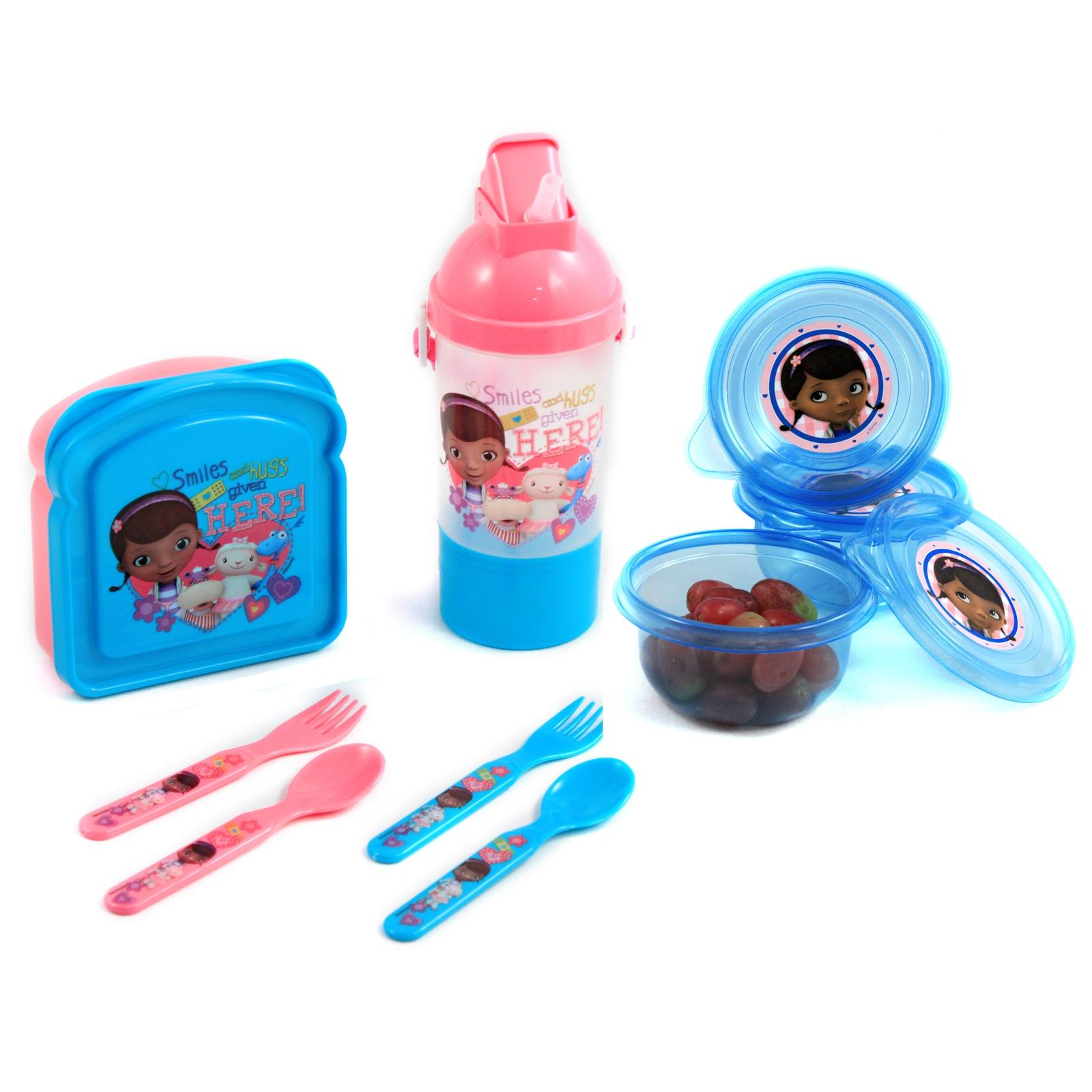 Disney Doc McStuffins Complete Kids Lunch Snack Set