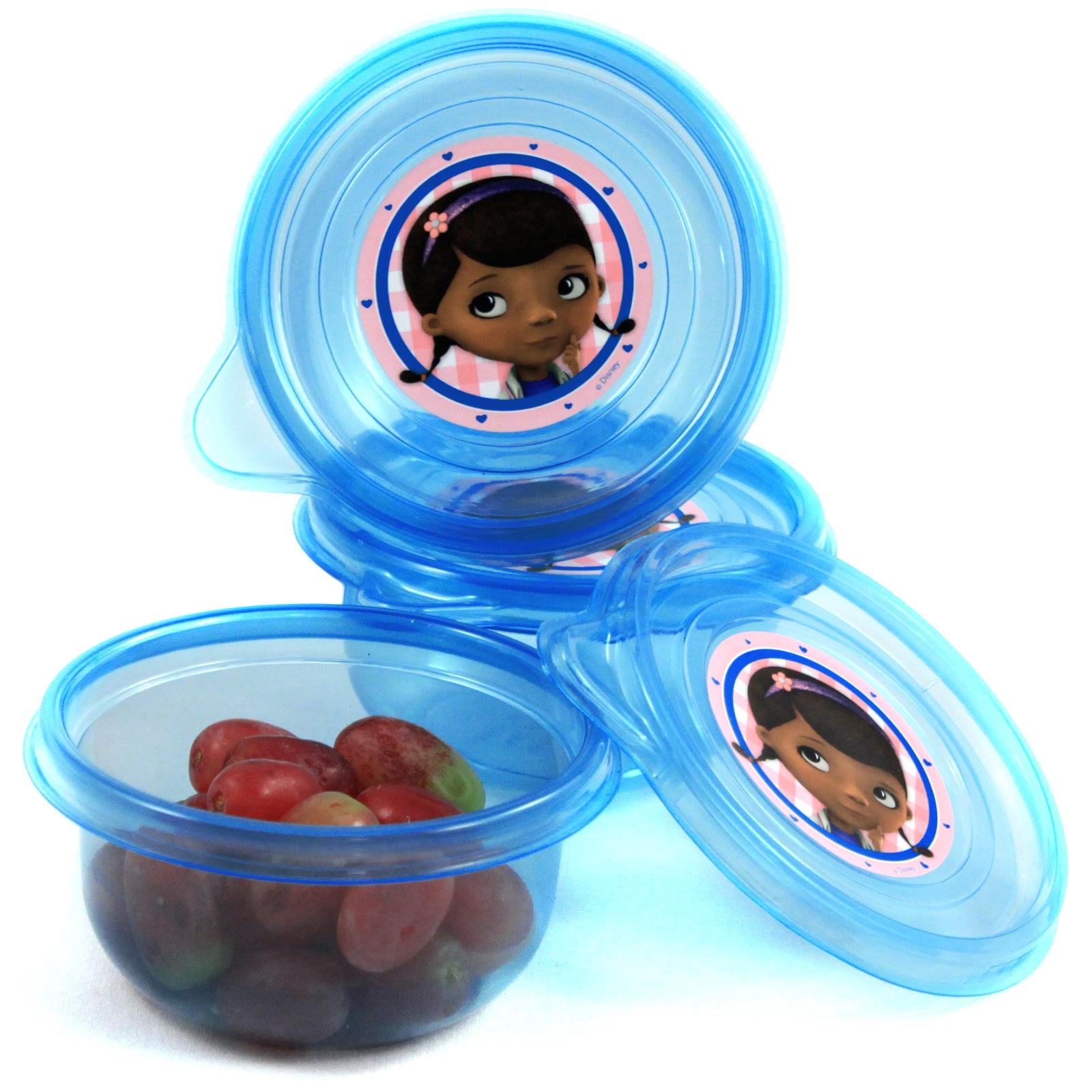 Doc McStuffins Mini Snack Container Tupperware 3 Pack