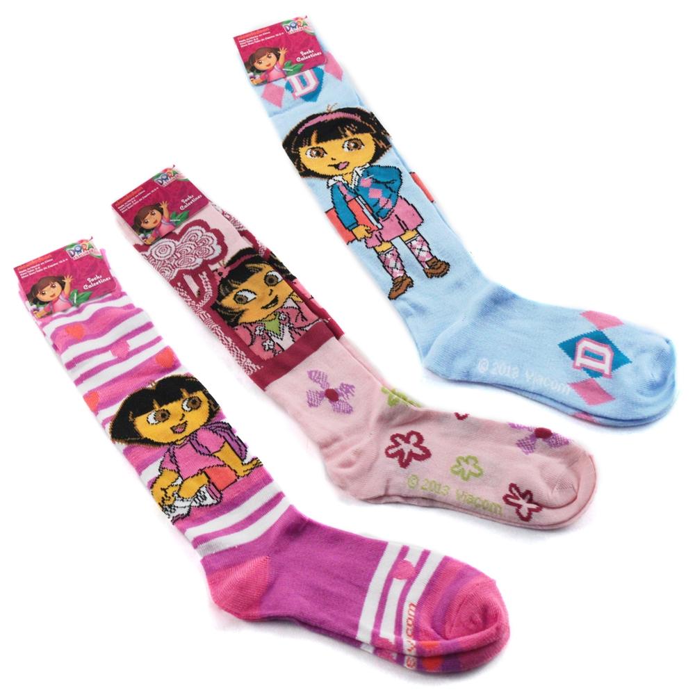 Dora the Explorer Girls Knee High Socks 3-Pack