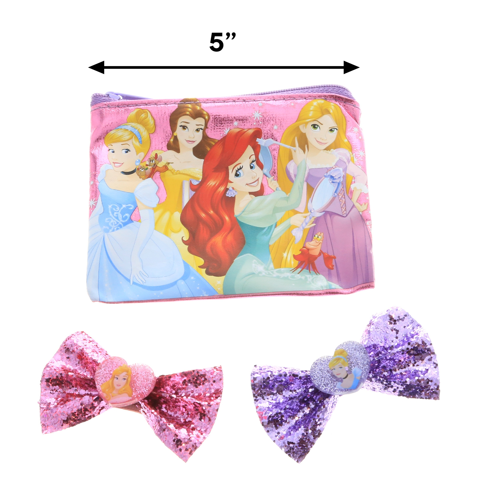 Disney Princess Girls Hair Clips Accessories Beauty Gift Set Cosmetics Makeup