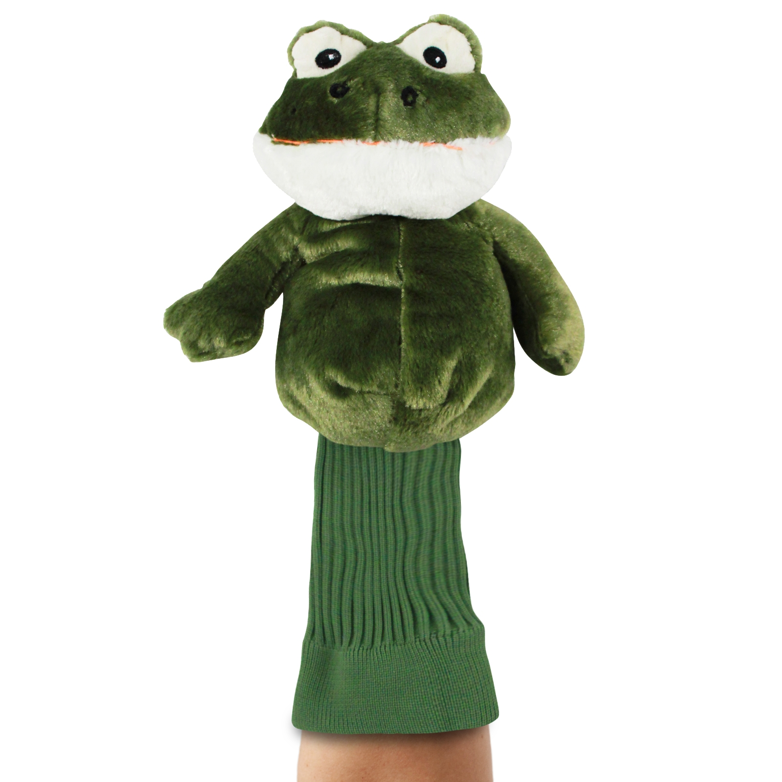 Fairway the Frog Green Plush Kids Hand Puppet