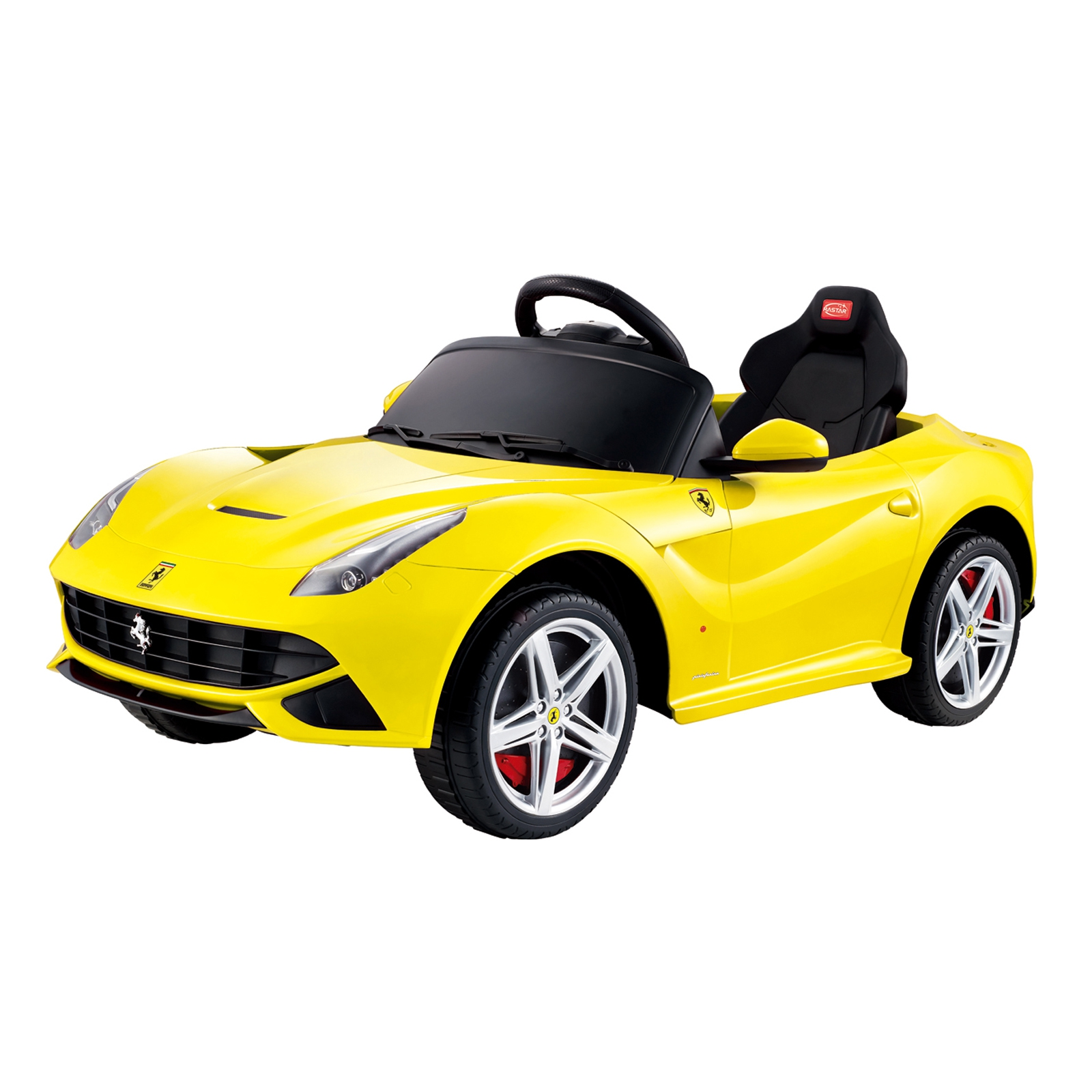 licensed ferrari f 12 12v kids battery powered ride on car in yellow