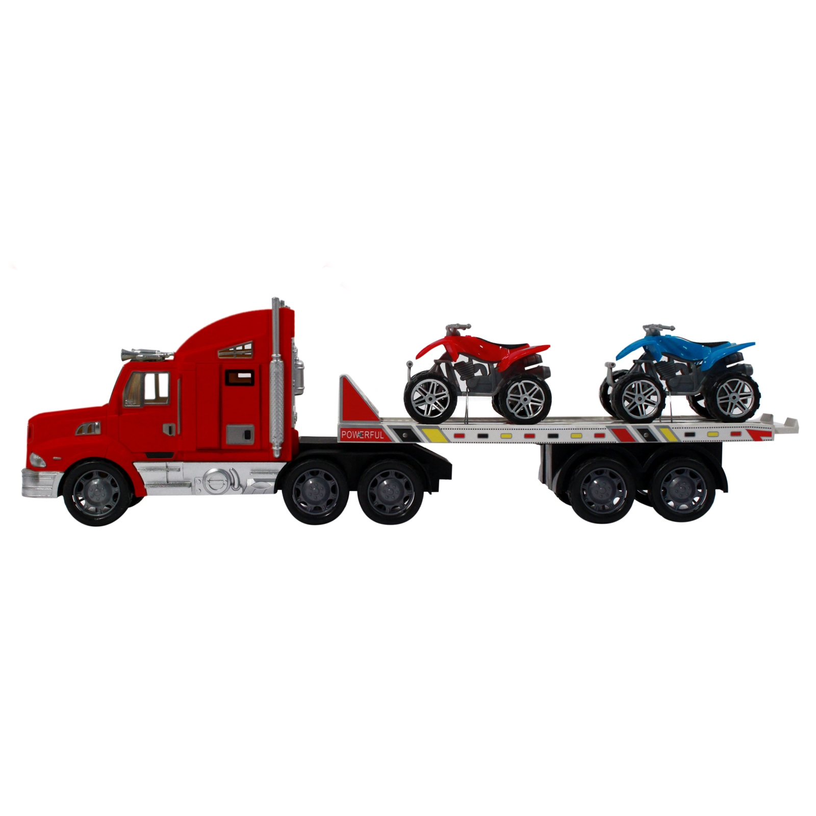 Toy Trucks For Boys : Toy auto transport truck for kids and boys with atvs