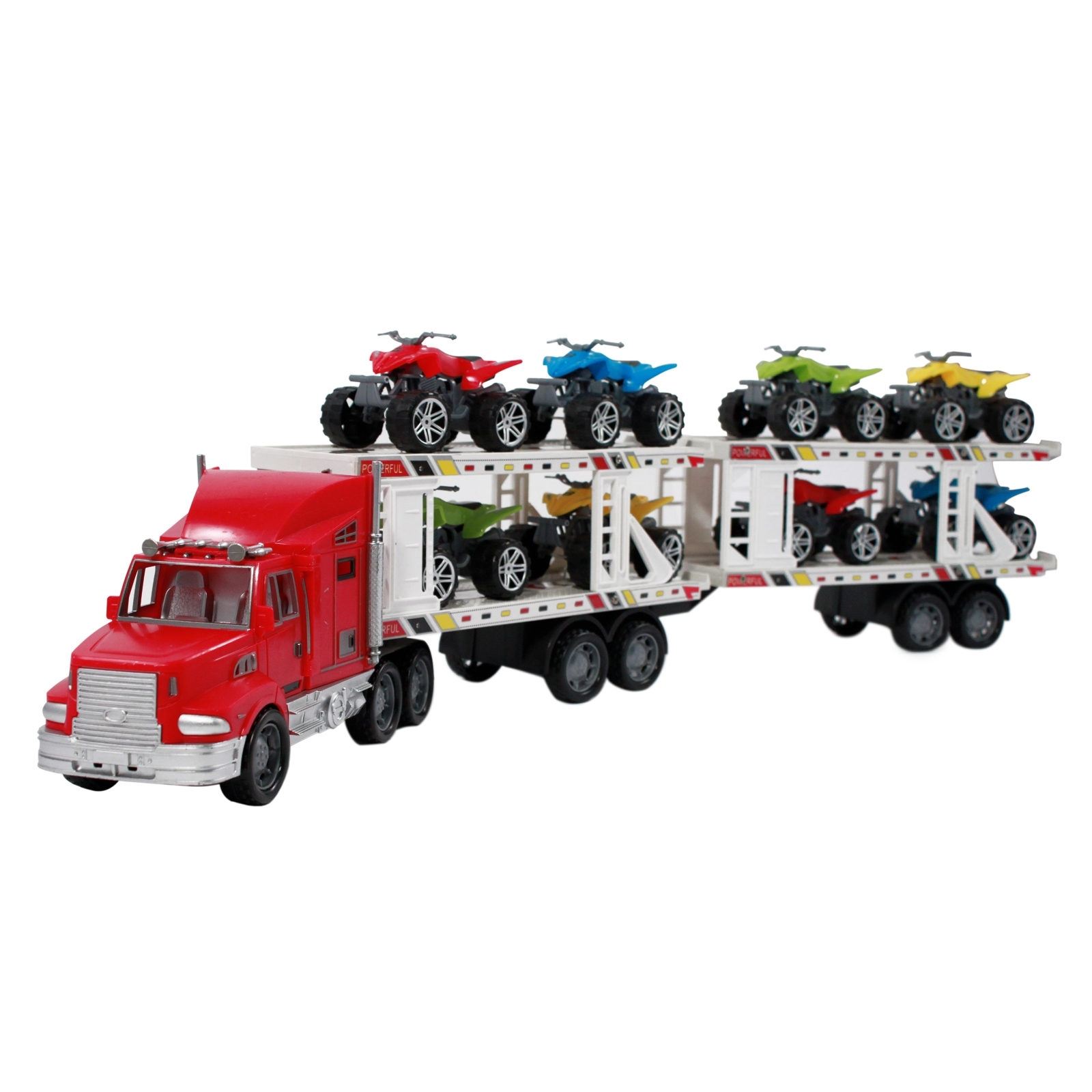 toy truck carrier race cars ATVs boys kids toddlers indoor