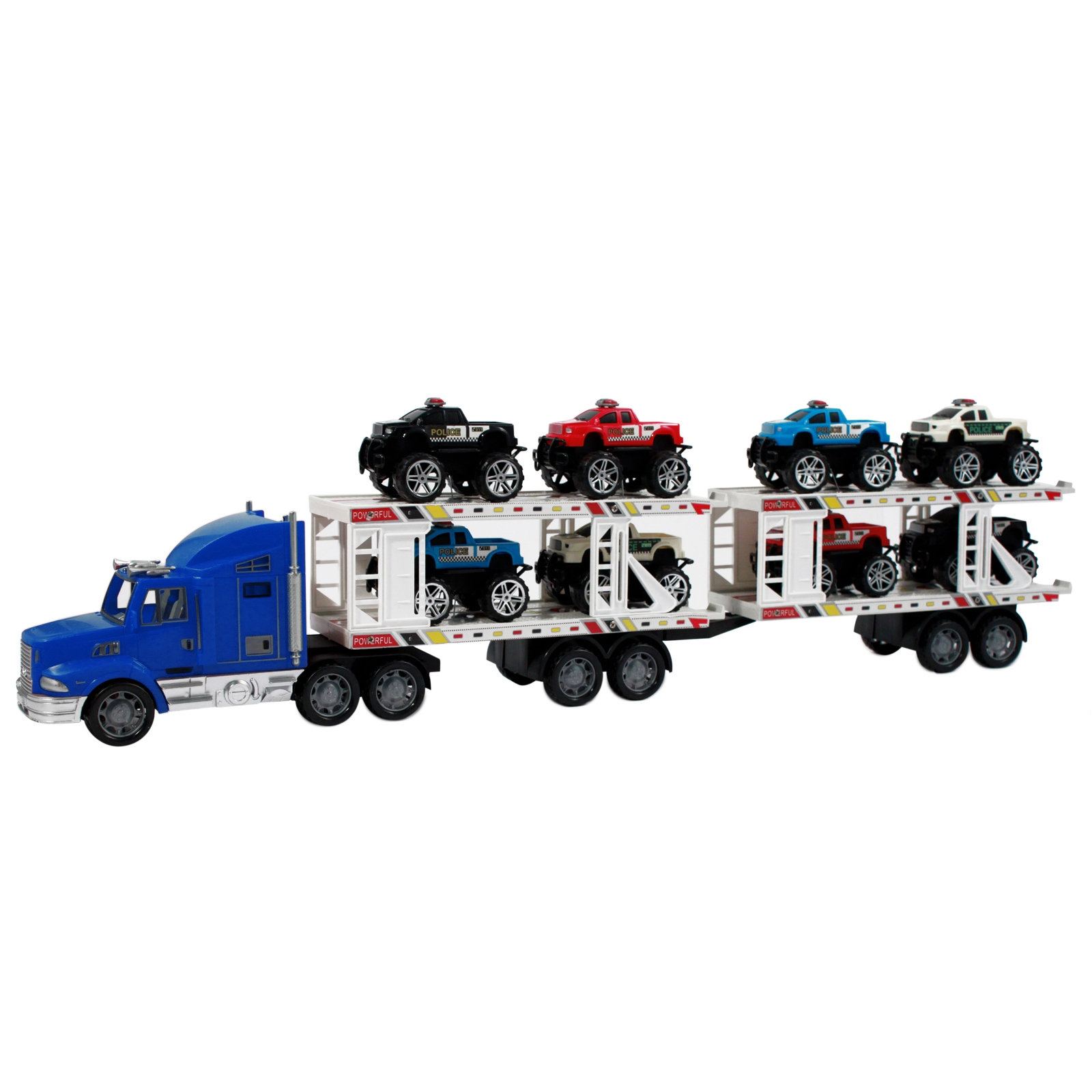 Deluxe Toy Truck Auto Hauler Kids and Boys in Bright Blue