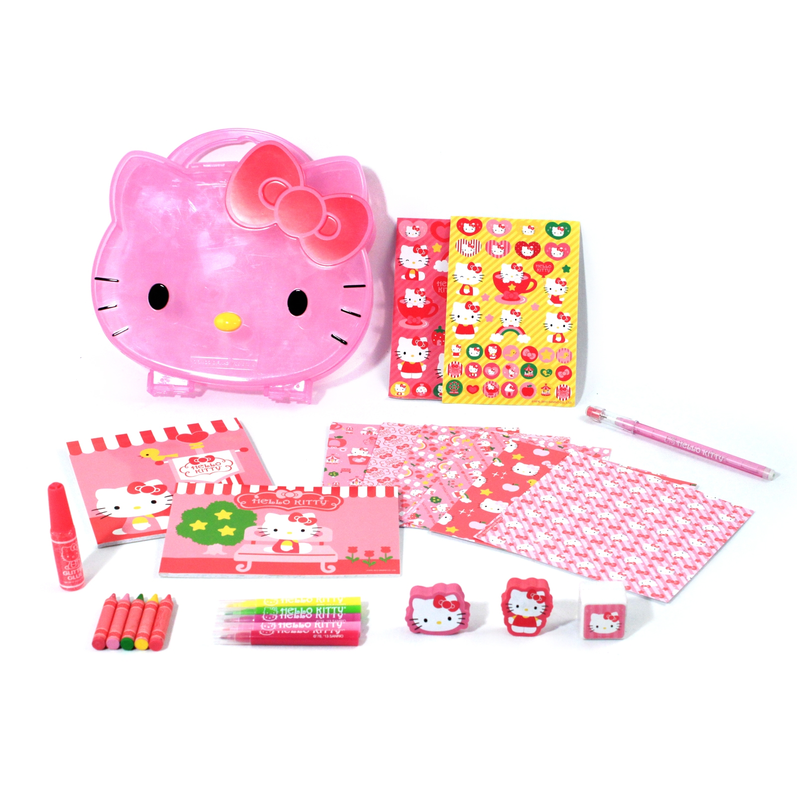 Hello Kitty Stationery and Coloring Book Art Supplies Set
