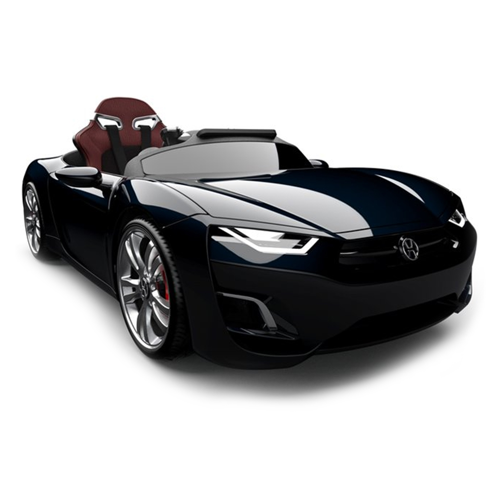 Henes Broon F830 12V Kids Battery Powered Ride On Car in Black