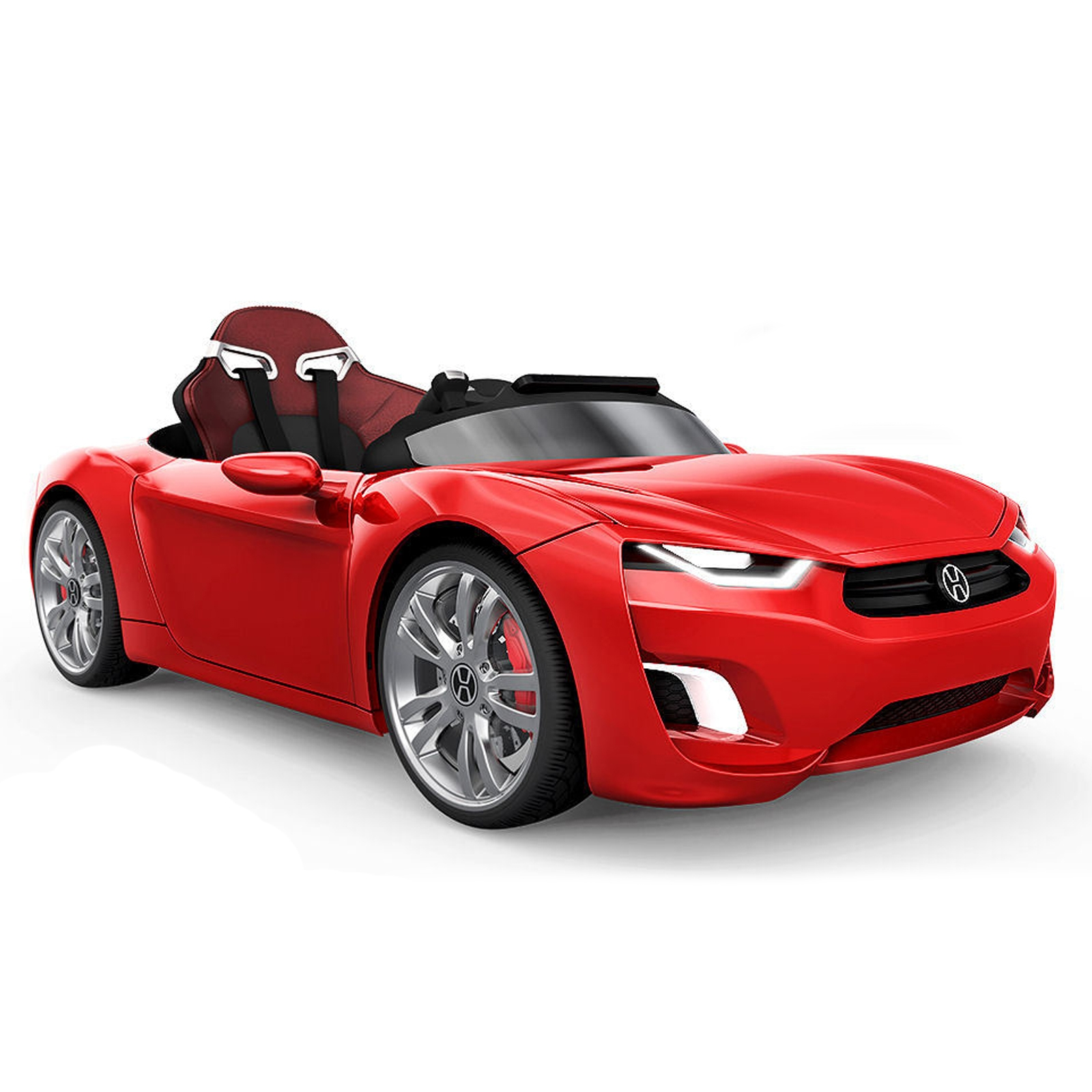 henes broon f830 12v kids battery powered ride on car in red