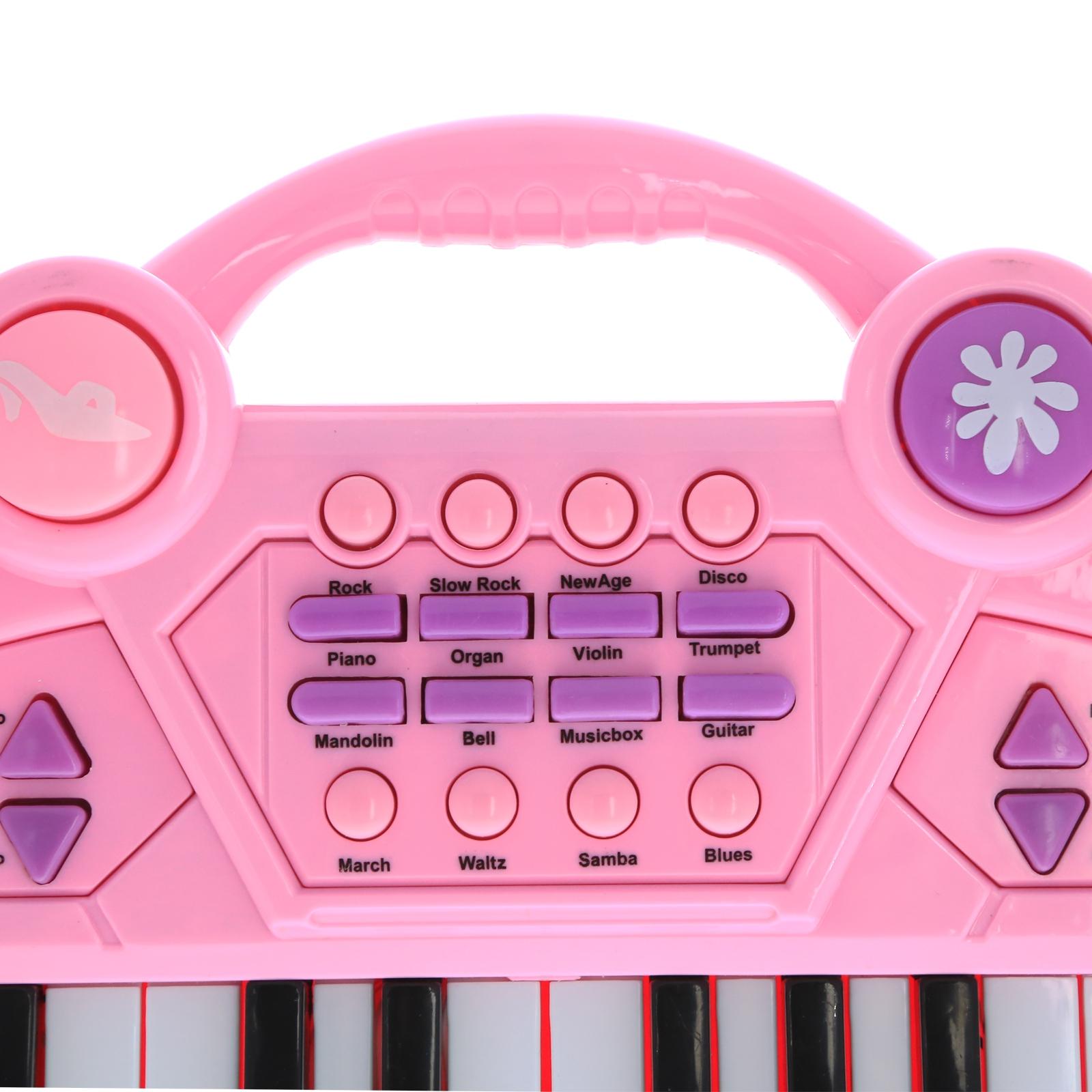 Pretend Play Electronic Keyboard Organ Musical Instrument Kids Toy - Pink