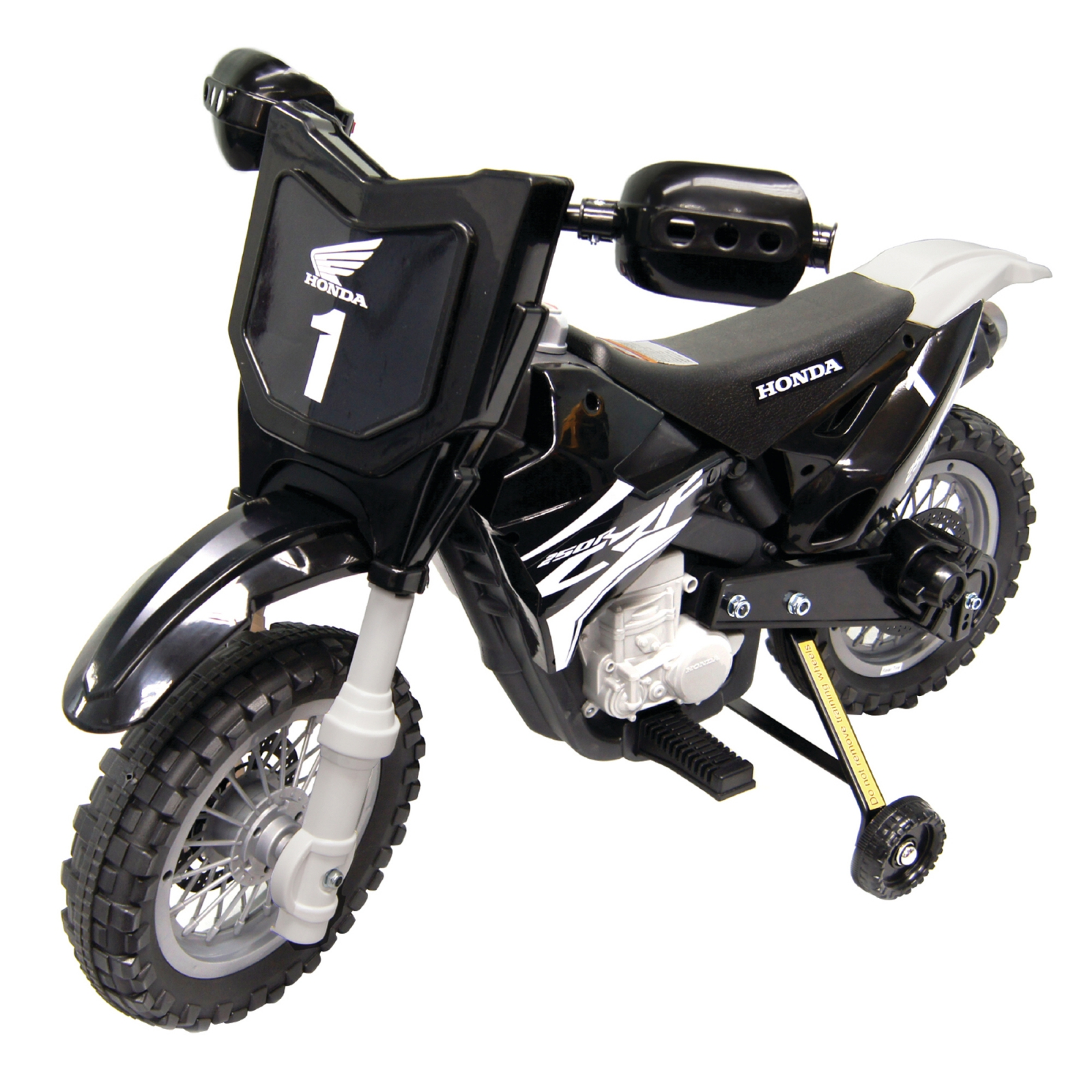 Official Licensed Honda CRF250R 6V Battery Powered Kids Ride On Dirt Bike Black