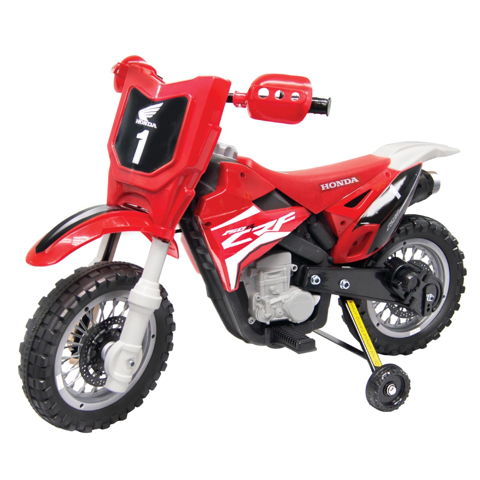 Official Licensed Honda CRF250R 6V Battery Powered Kids Ride On Dirt Bike Red