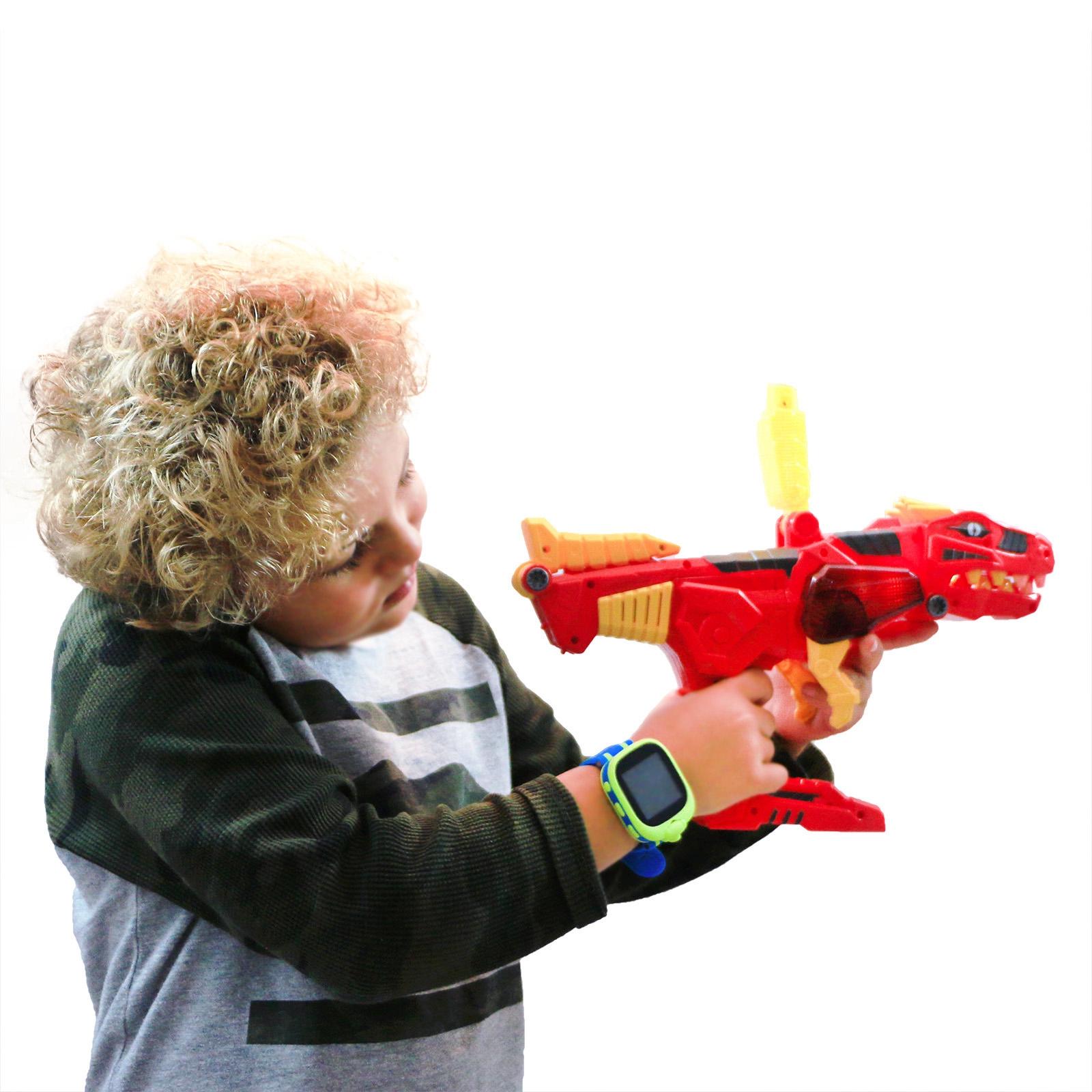 KidPlay Dino Gun Dinosaur Space Battle Robot Interchangeable Transforming Toy