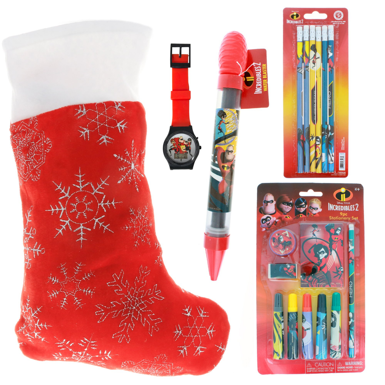 Incredibles 2 Kids Holiday Stocking Bundle Pre-filled Toys and Gifts