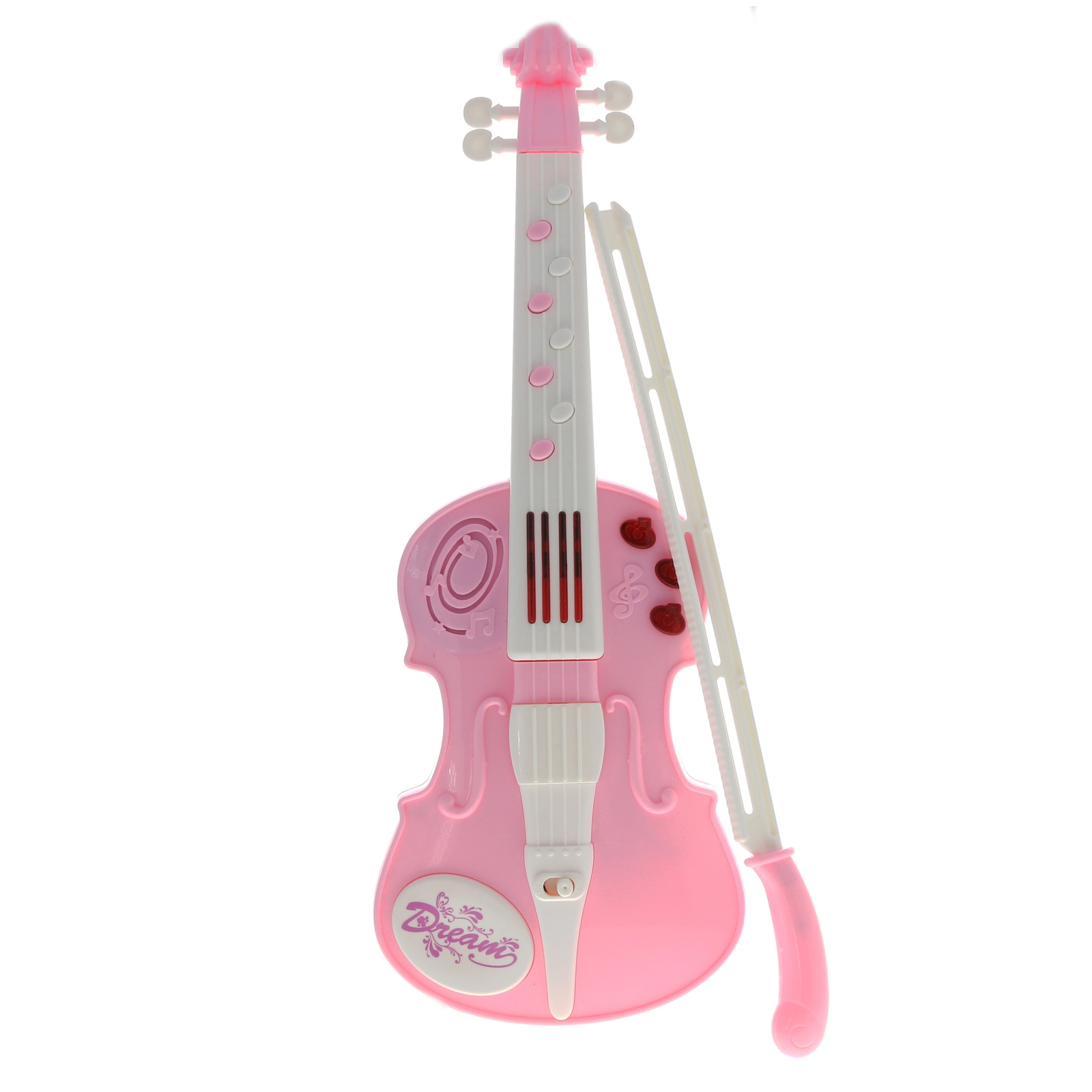 KidPlay Girls Musical Violin Instrument Pretend Play Kids Light Up Toy - Pink