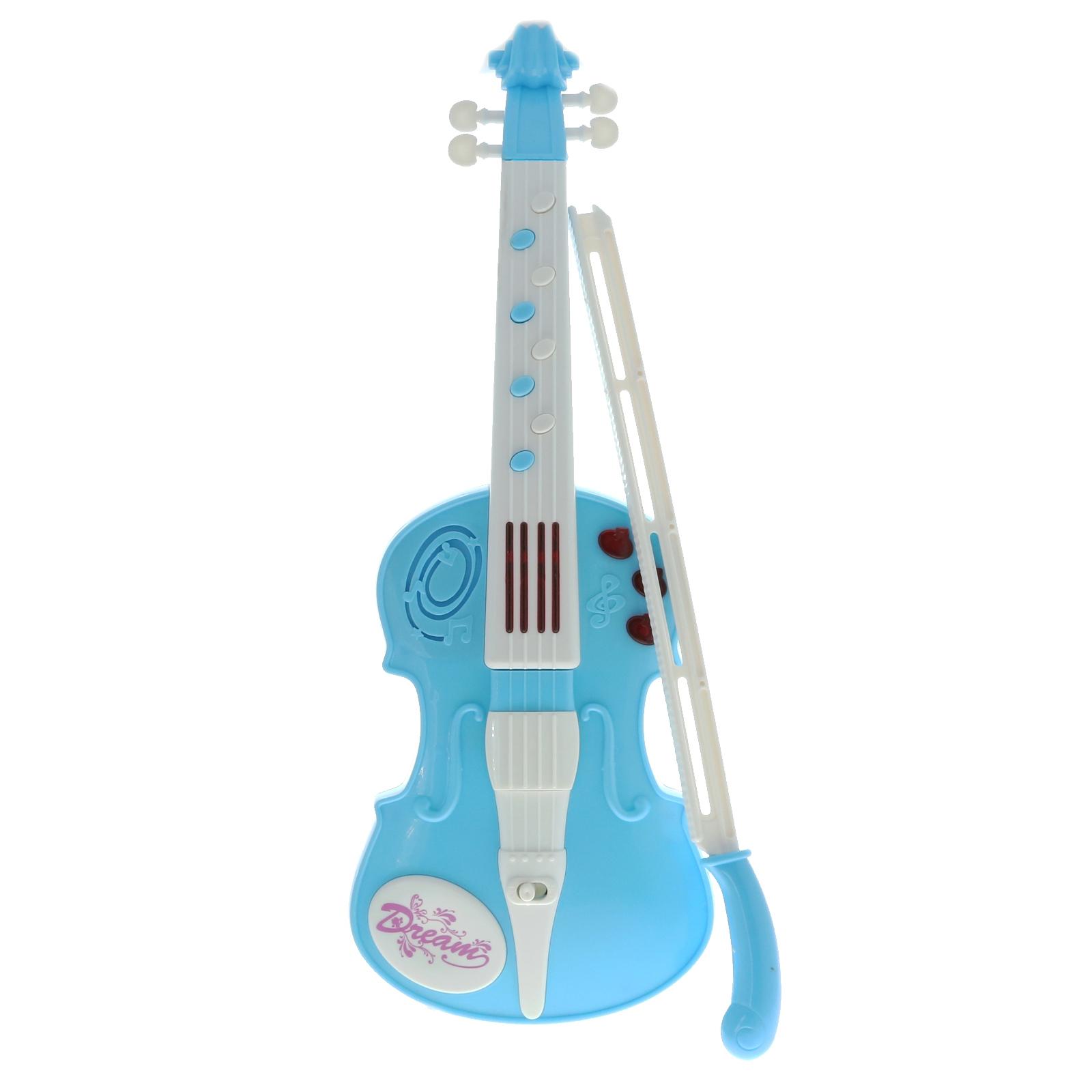 TychoTyke Musical Violin Instrument Pretend Play Kids Light Up Toy - Blue
