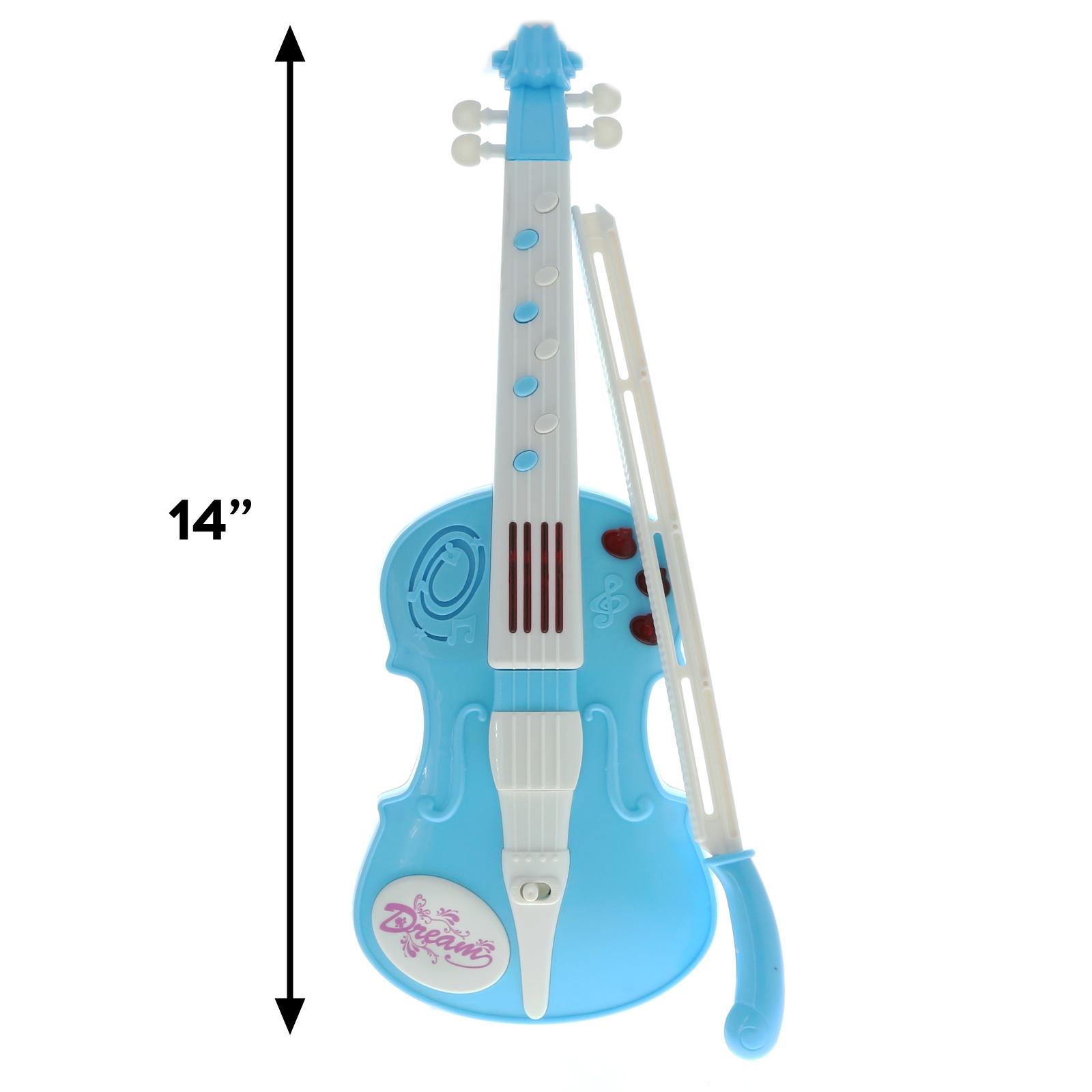 KidPlay Musical Violin Instrument Pretend Play Kids Light Up Toy - Blue