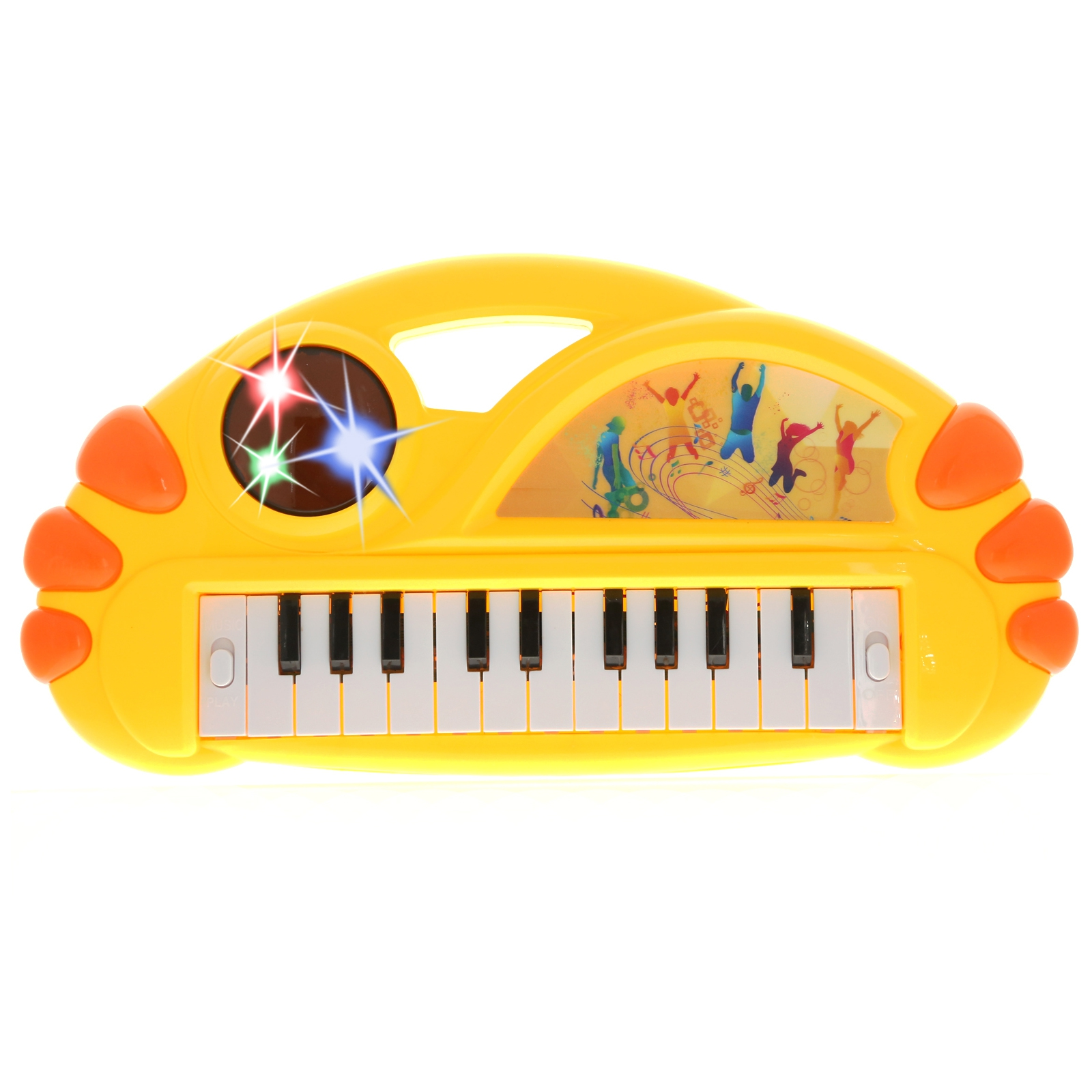 KidPlay Organ Musical Instrument Electronic Keyboard Kids Toy - Yellow