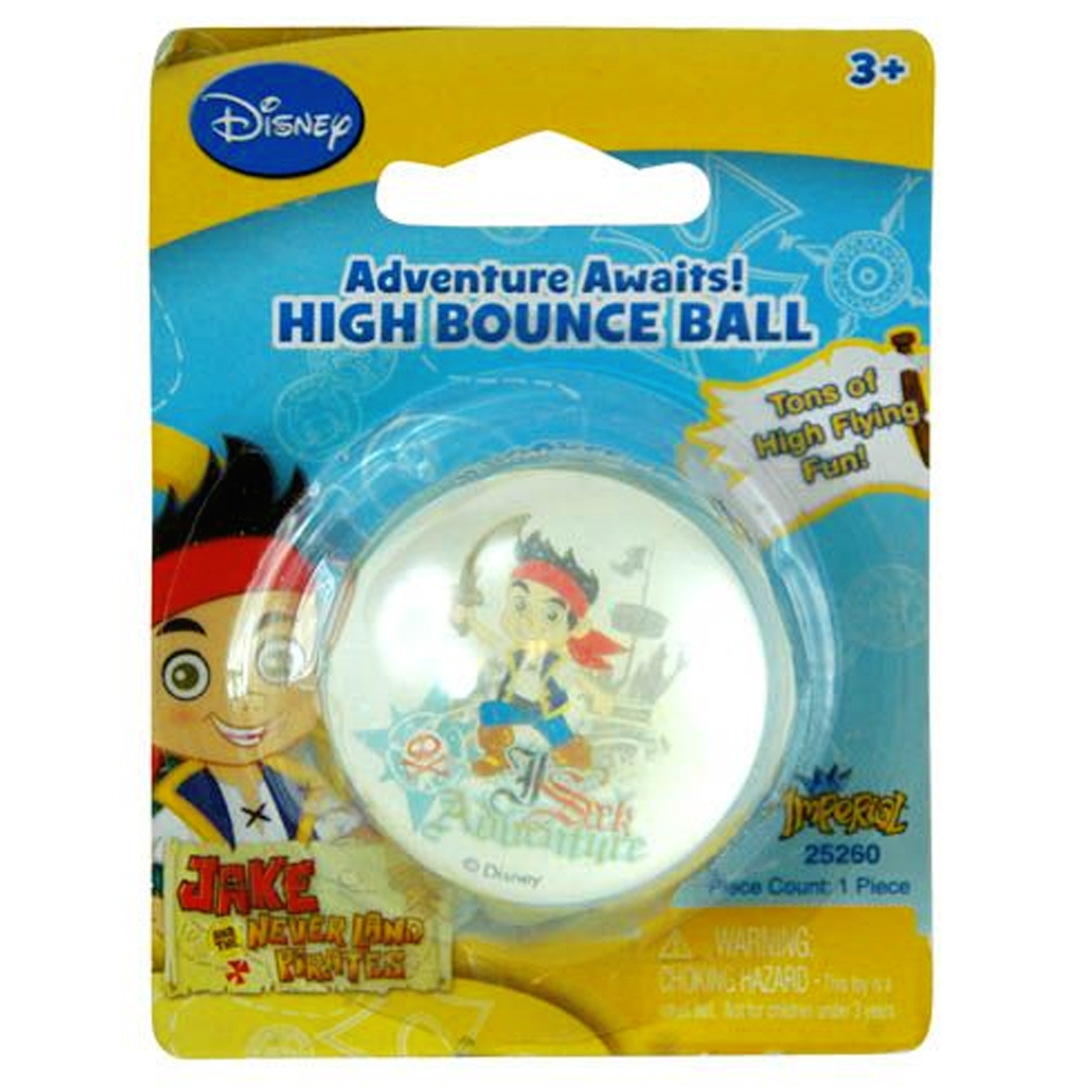 Bouncy Ball Disney Kids Toy Jake and the Never Land Pirates Theme
