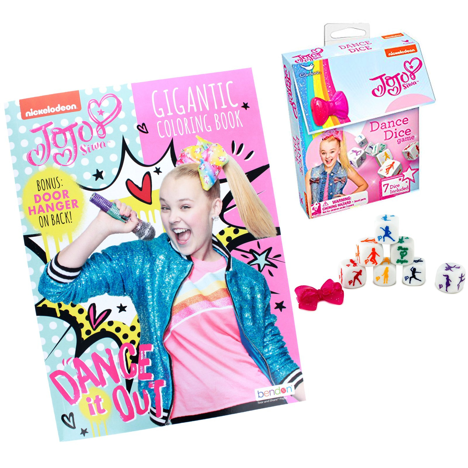 JoJo Siwa Girls Activity Gift Set Coloring Book Dice 10pc