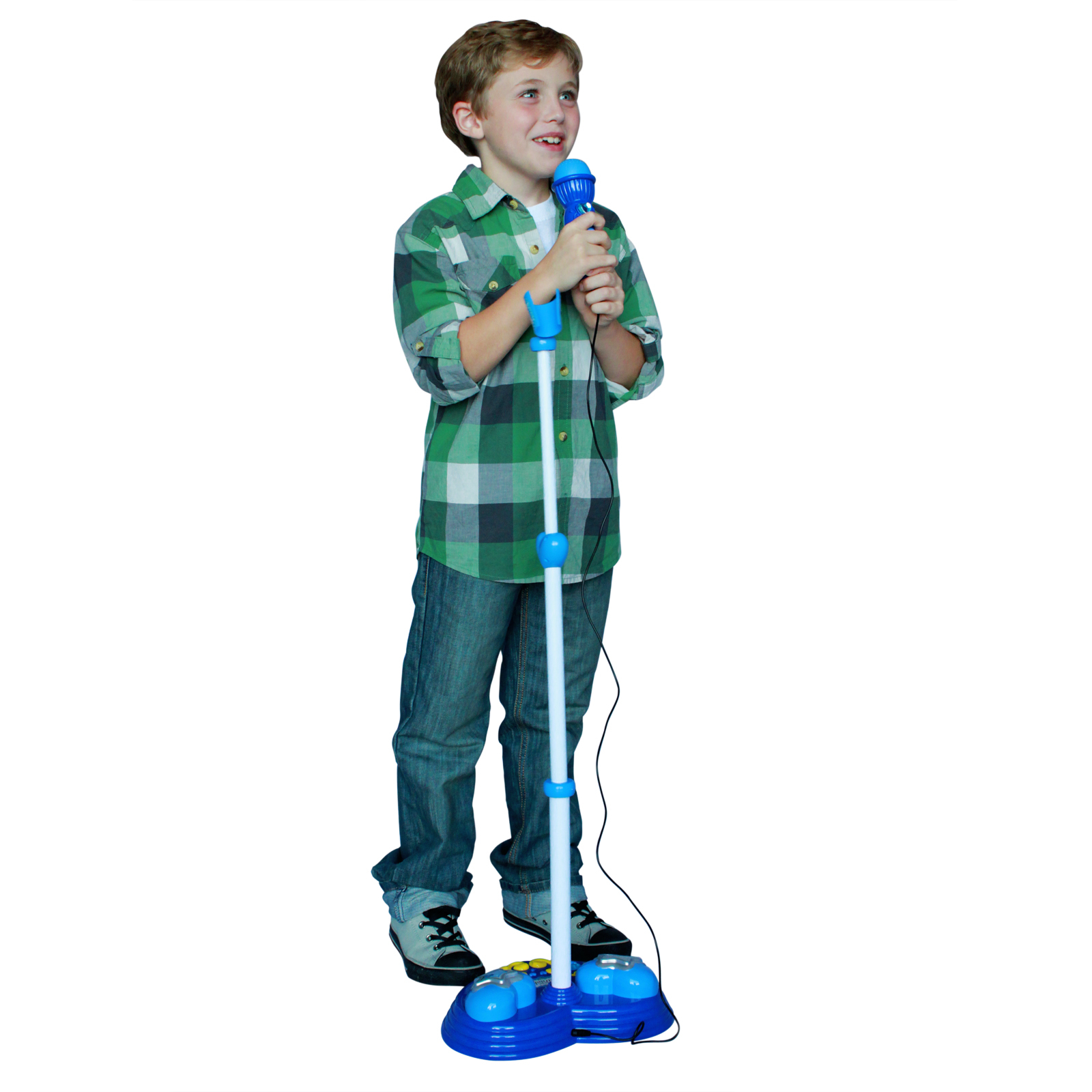 Pop Star Micrphone with Adjustable Stand Kids Karaoke Toy