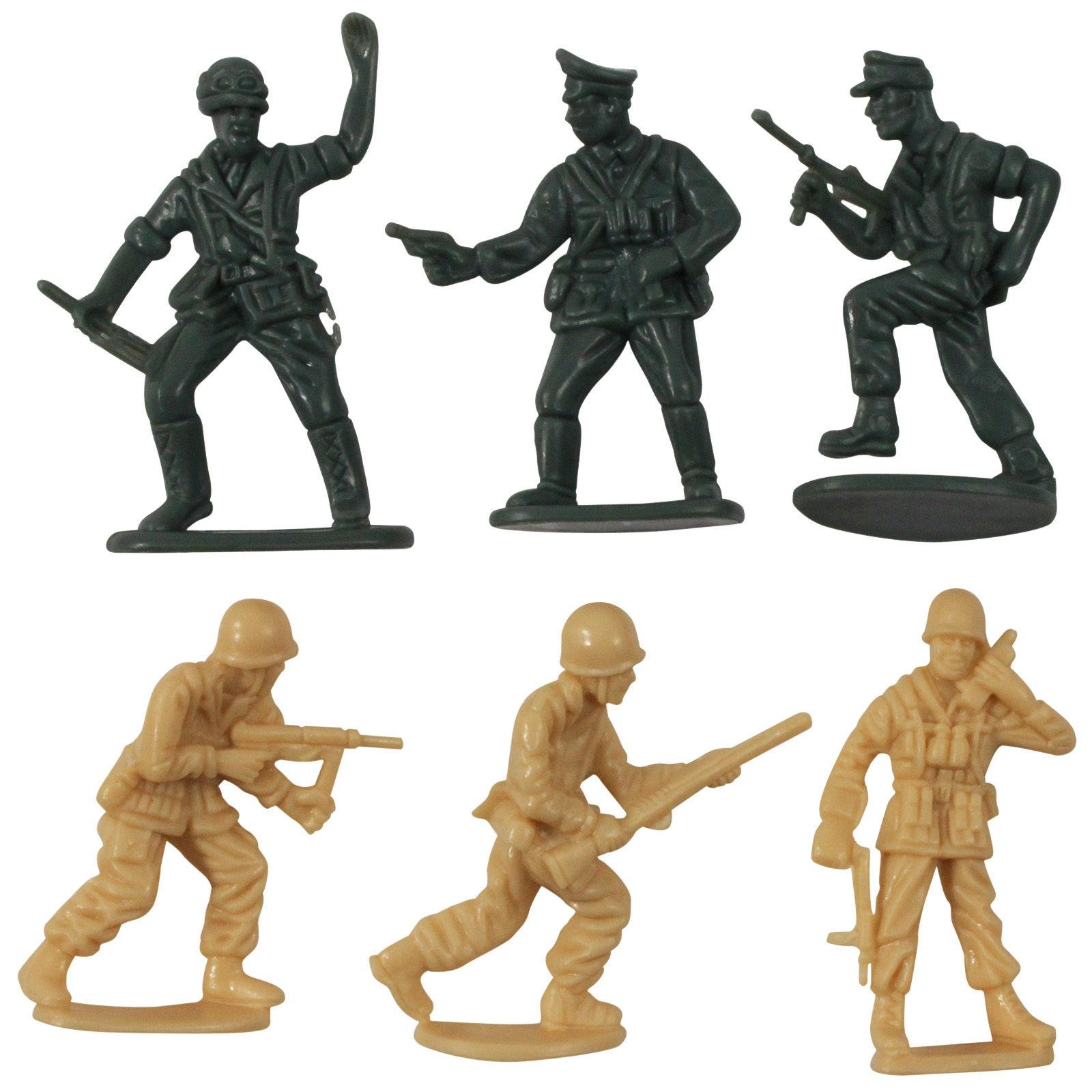 21pc Battle Dinosaur vs Army Men Combat Action Figure Kids Toy Play Set