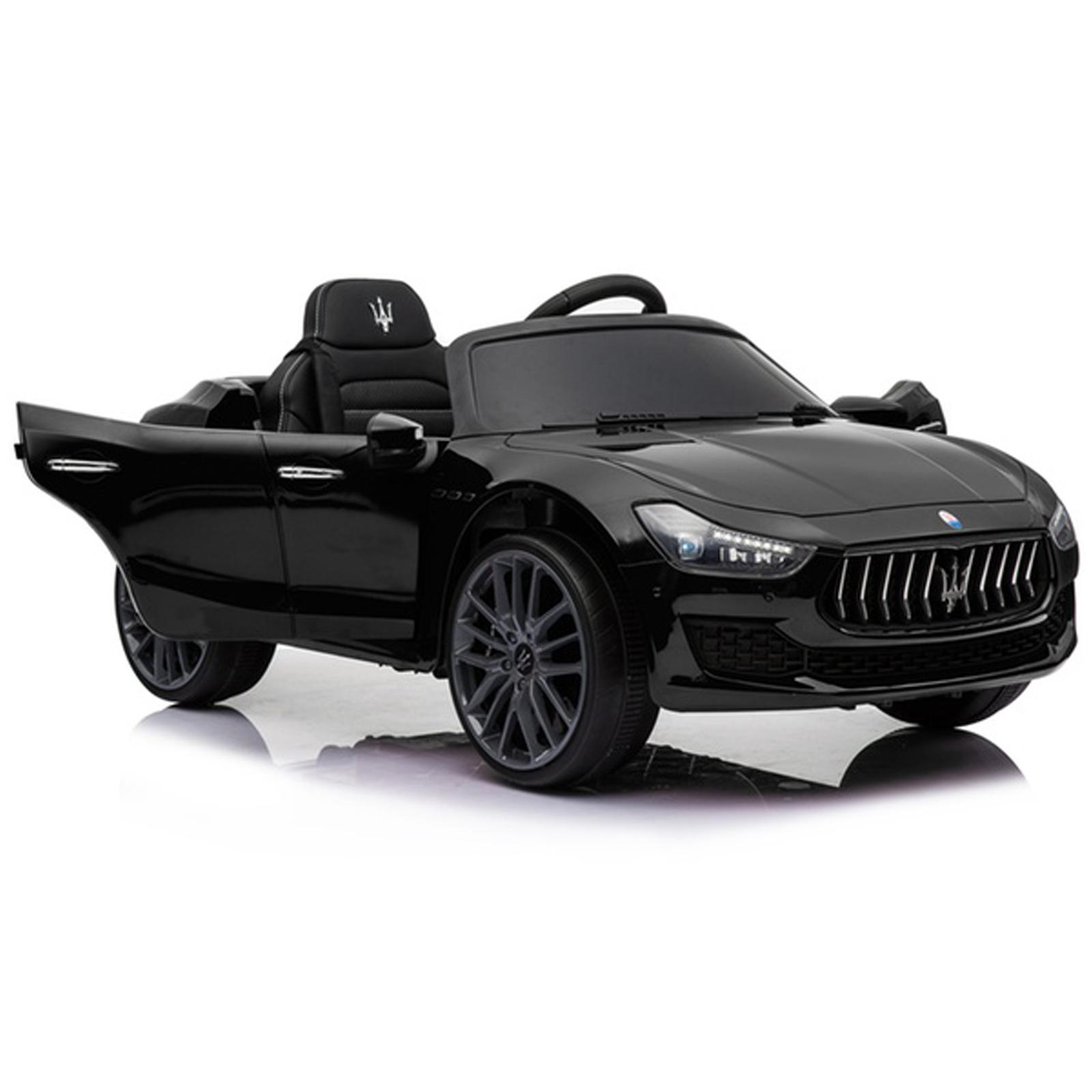 Kidplay Licensed Maserati Ghibli Kids Ride On Car 12V Battery Powered - Black