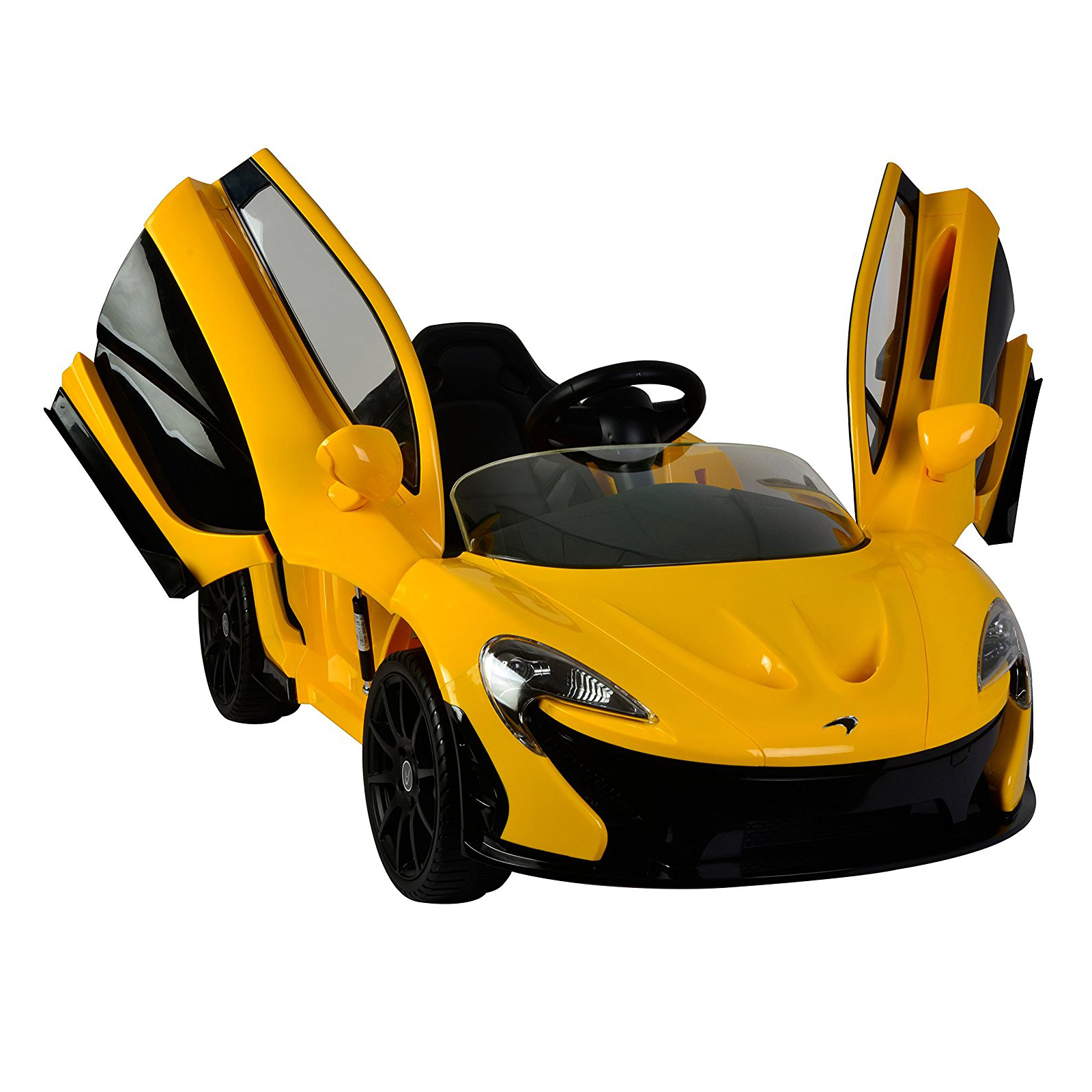 Licensed McLaren P1 12V Battery Powered Ride On Kids Car Yellow Remote Control