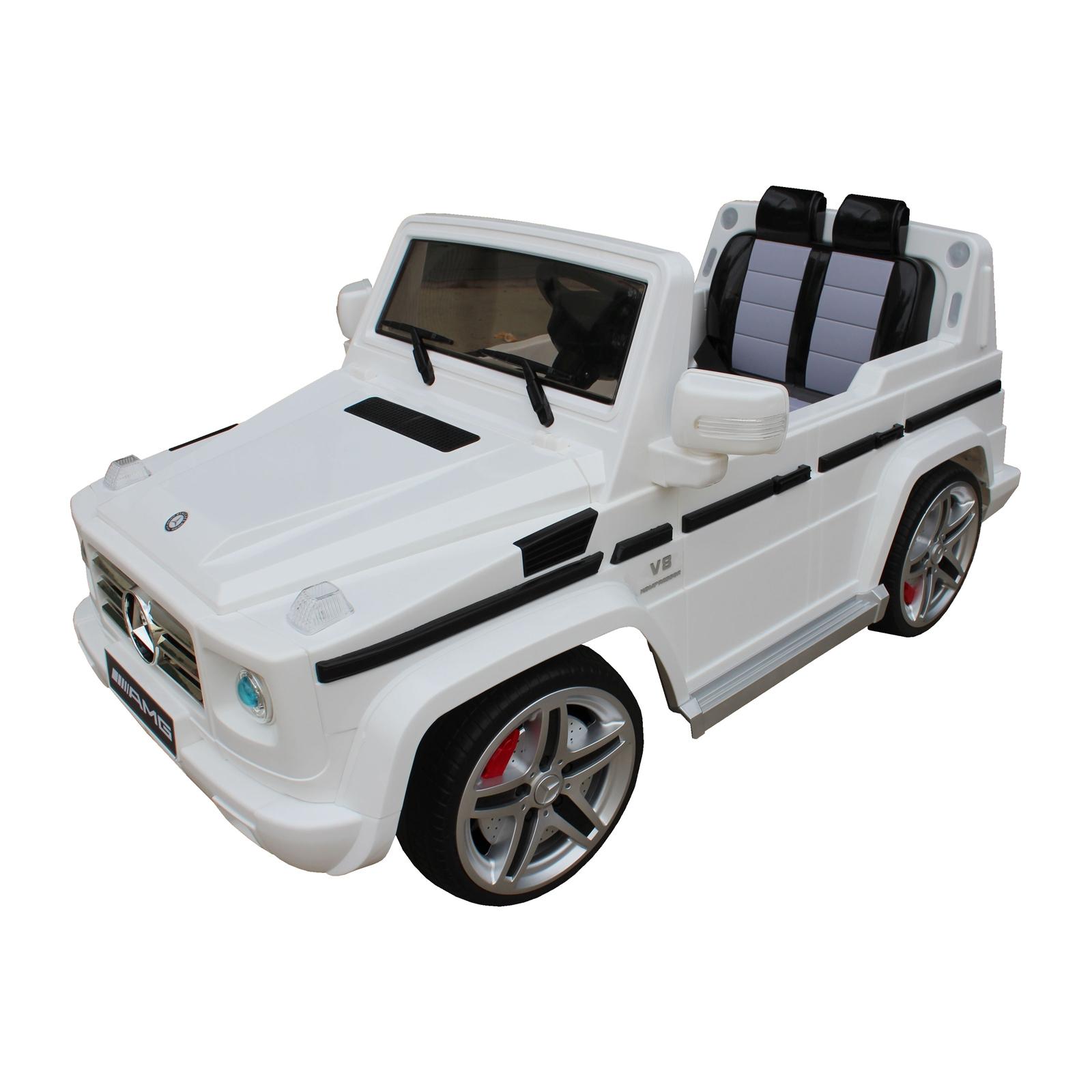 Mercedes Benz G55 12V Battery Power Ride On Car for Kids - White