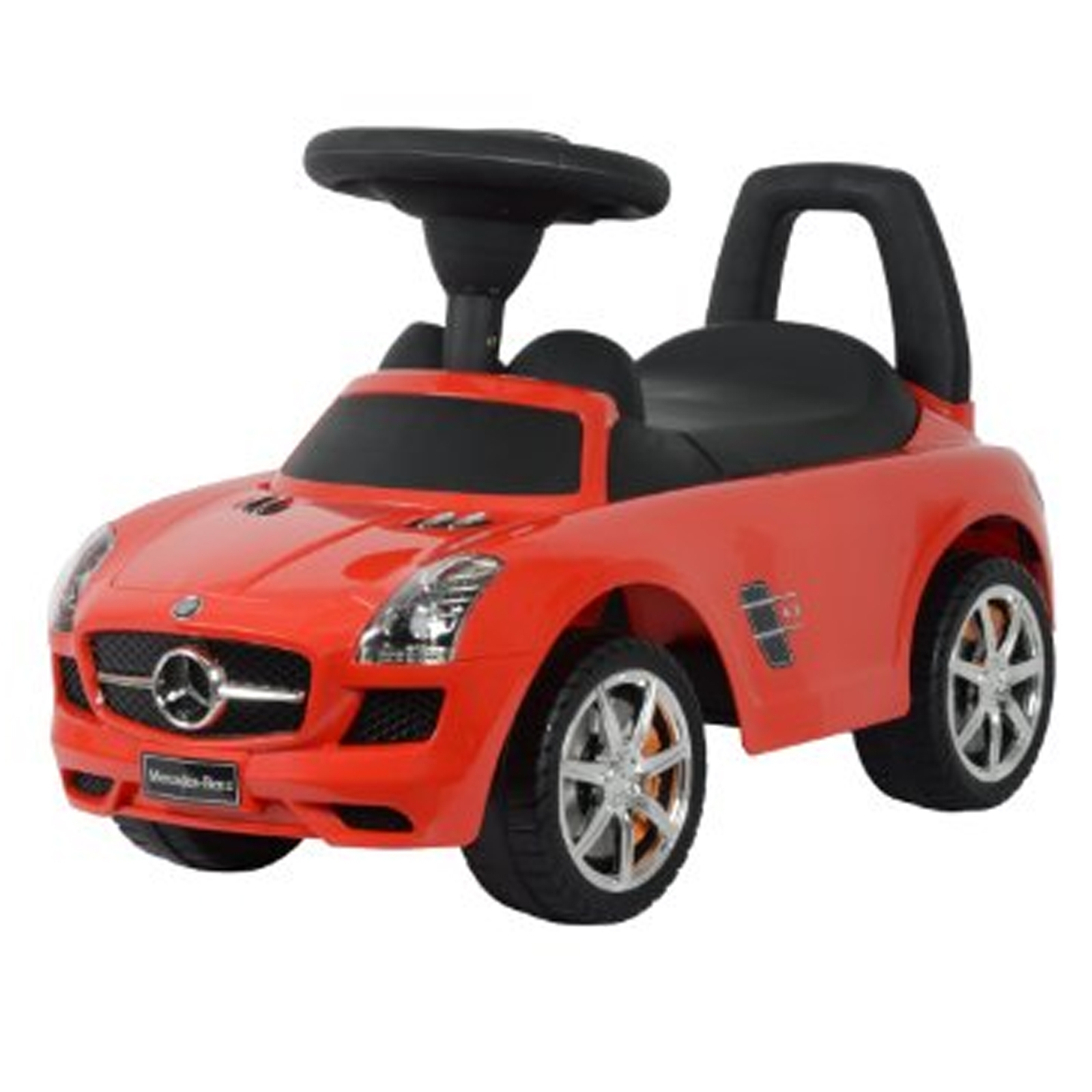Licensed mercedes benz kids ride on push car in red for Mercedes benz toddler car