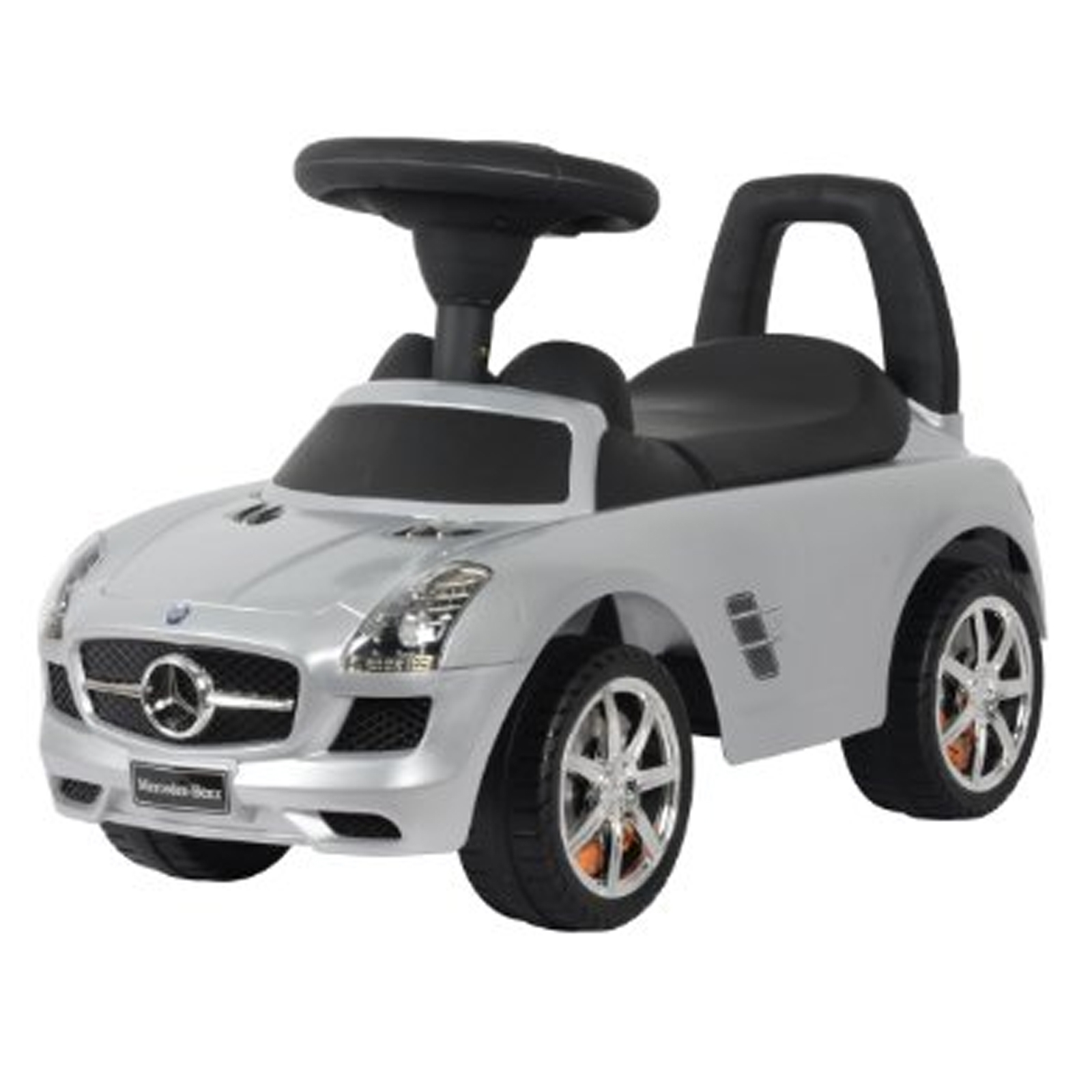 Licensed Mercedes Benz Kids Ride On Push Car in Silver
