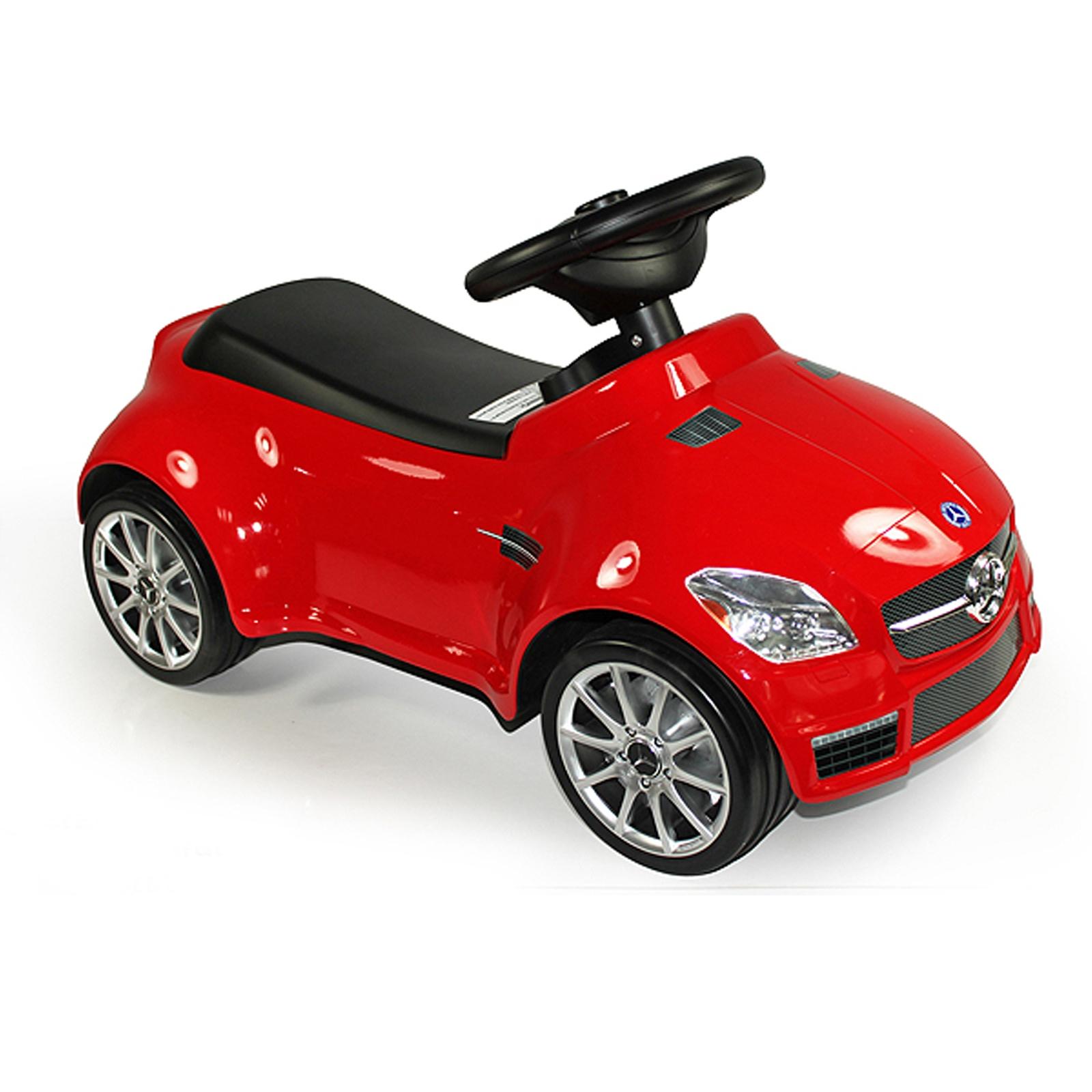 licensed mercedes benz amg slk55 kids ride on push car in red