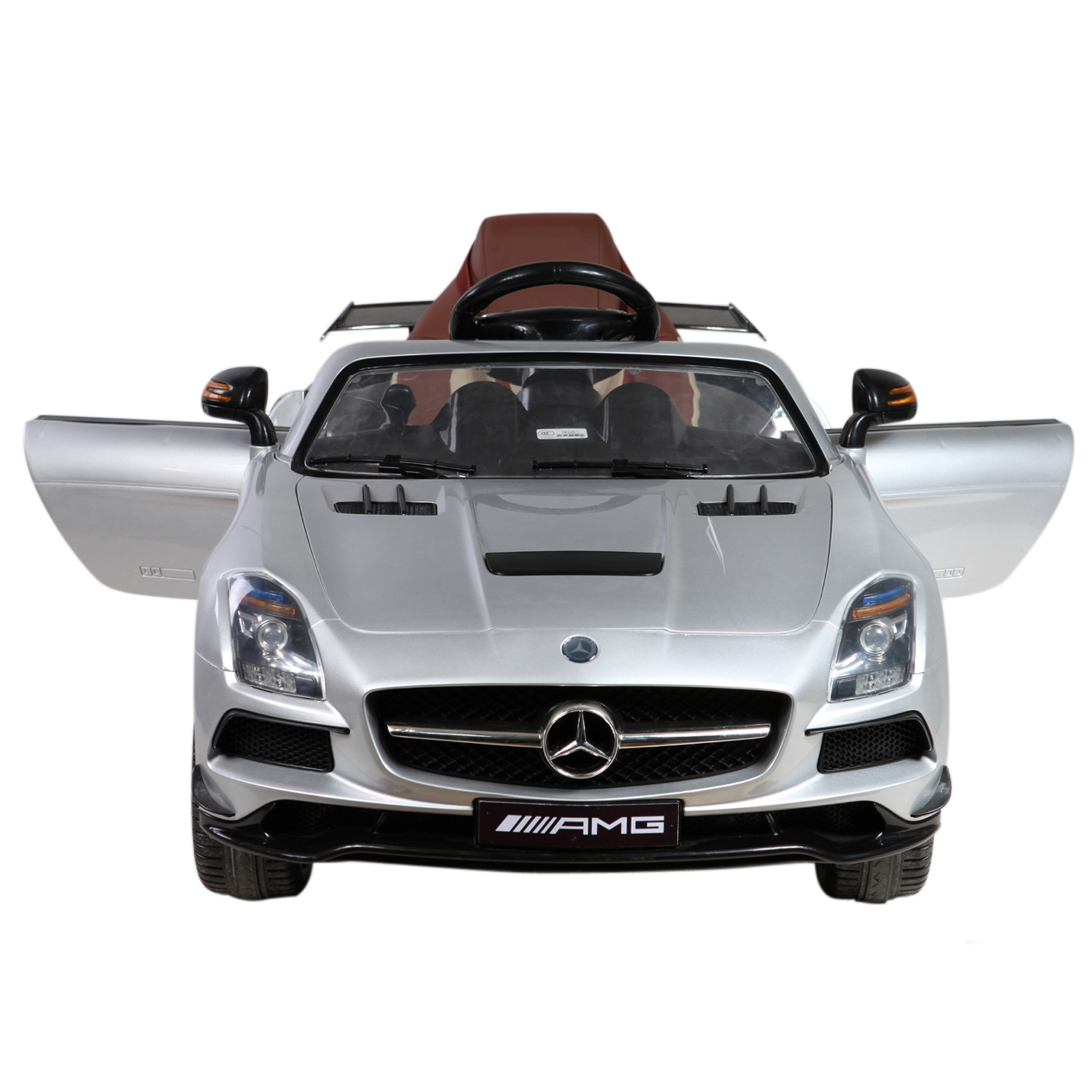 Licensed Mercedes Benz SLS AMG Black Series 12V Kids Battery Powered Ride On Car in Silver